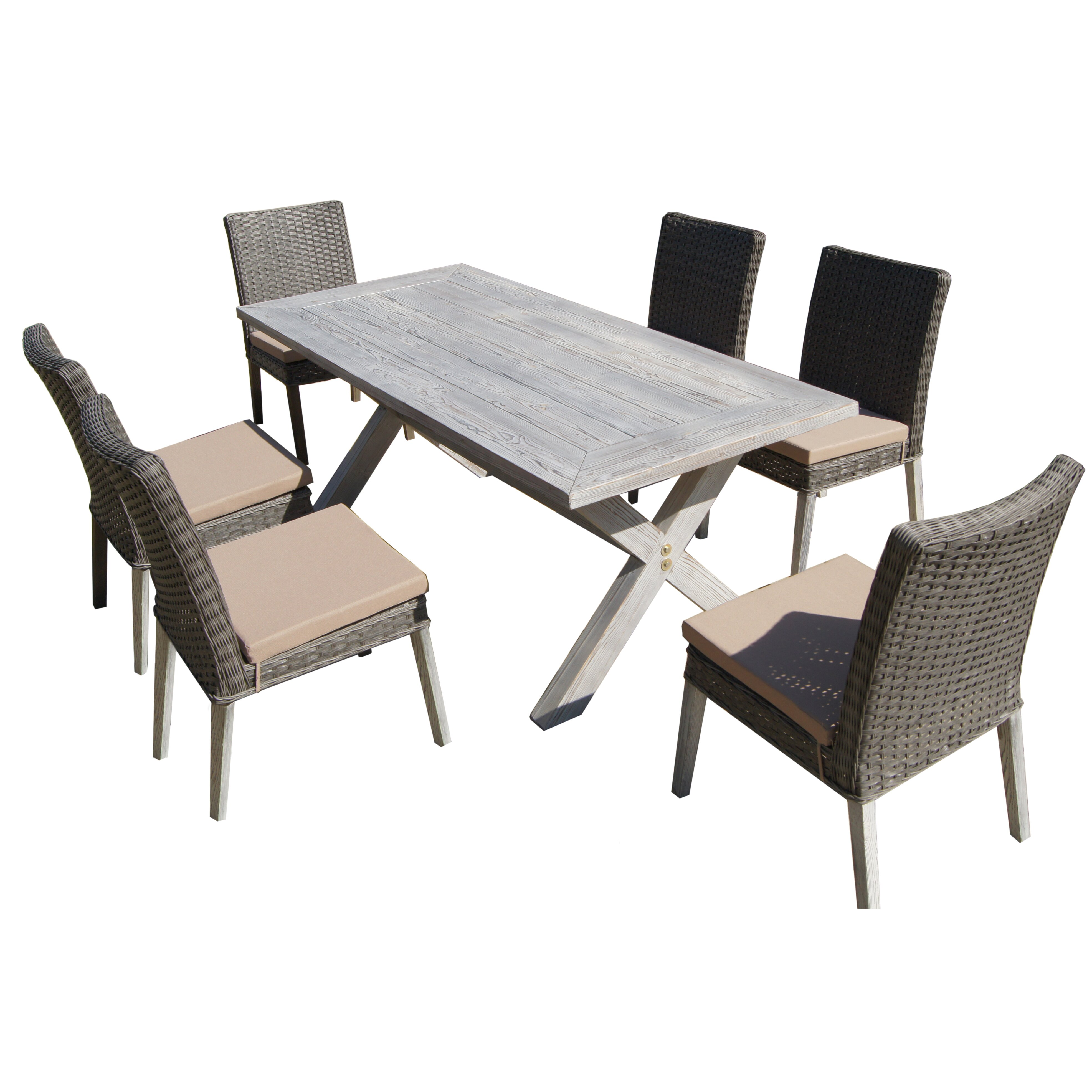 Lindmere 7 Piece Dining Set With Cushion Amp Reviews Allmodern