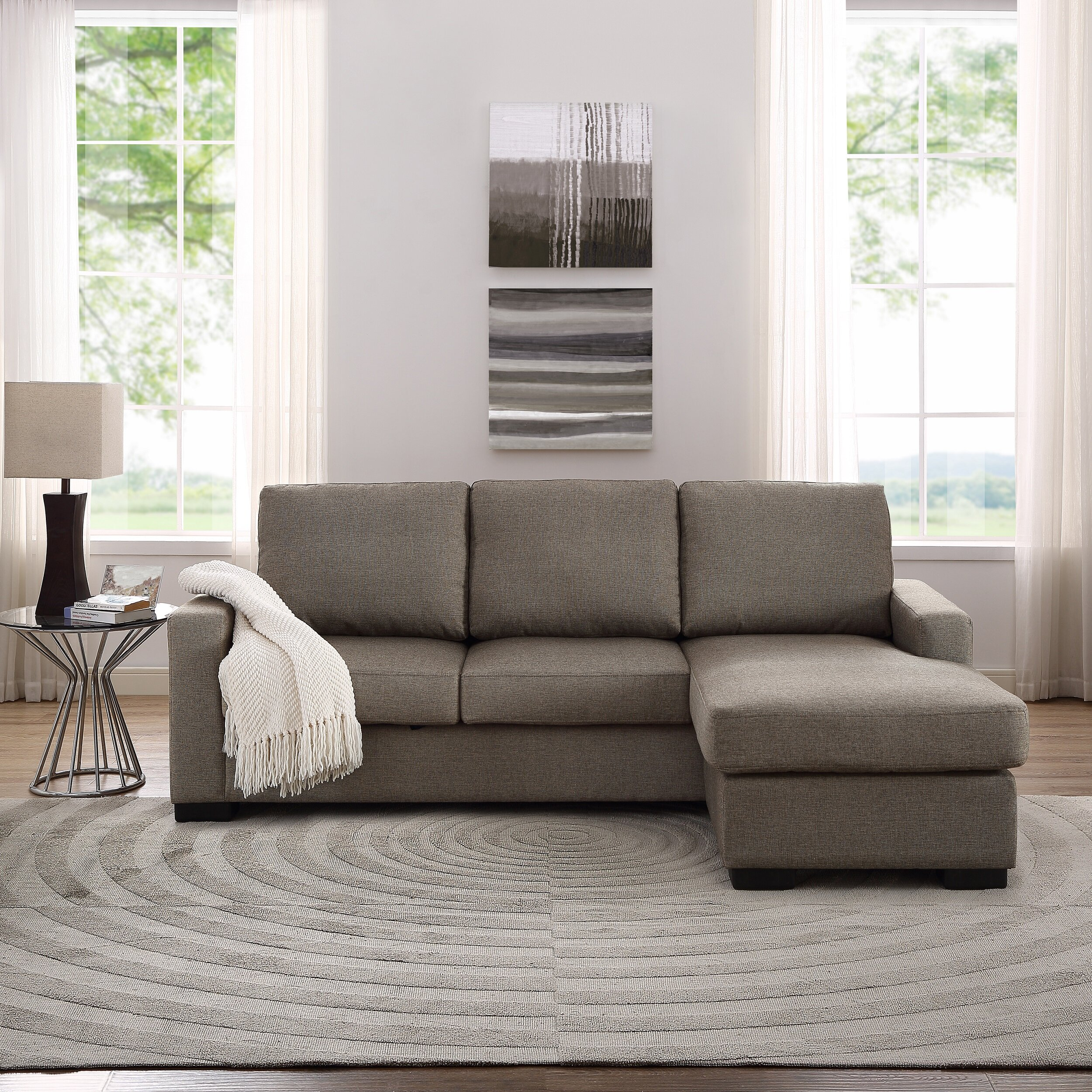 Thy Hom Colton Reversible Chaise Sectional LPRF1022