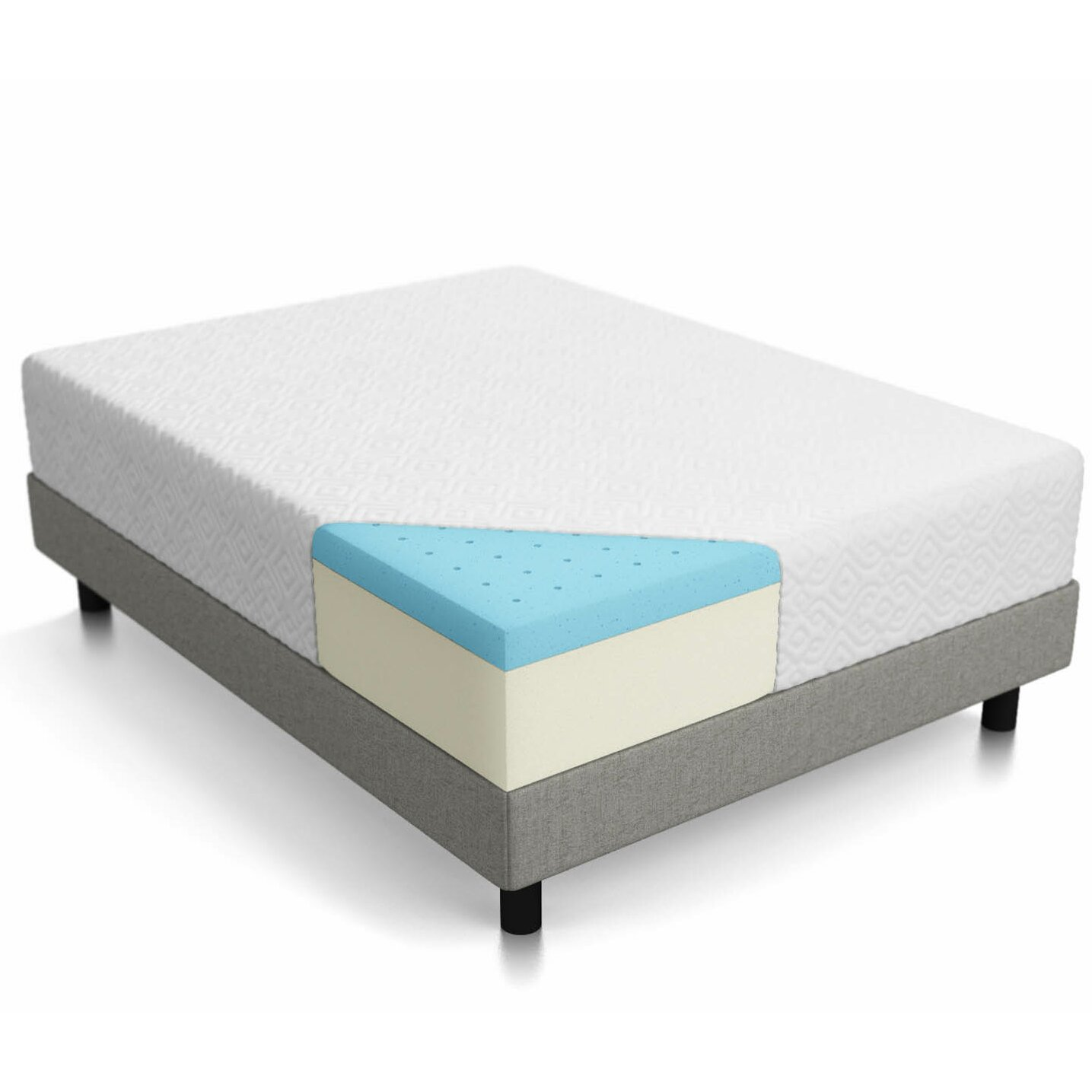 "Lucid 12"" Memory Foam Mattress & Reviews"