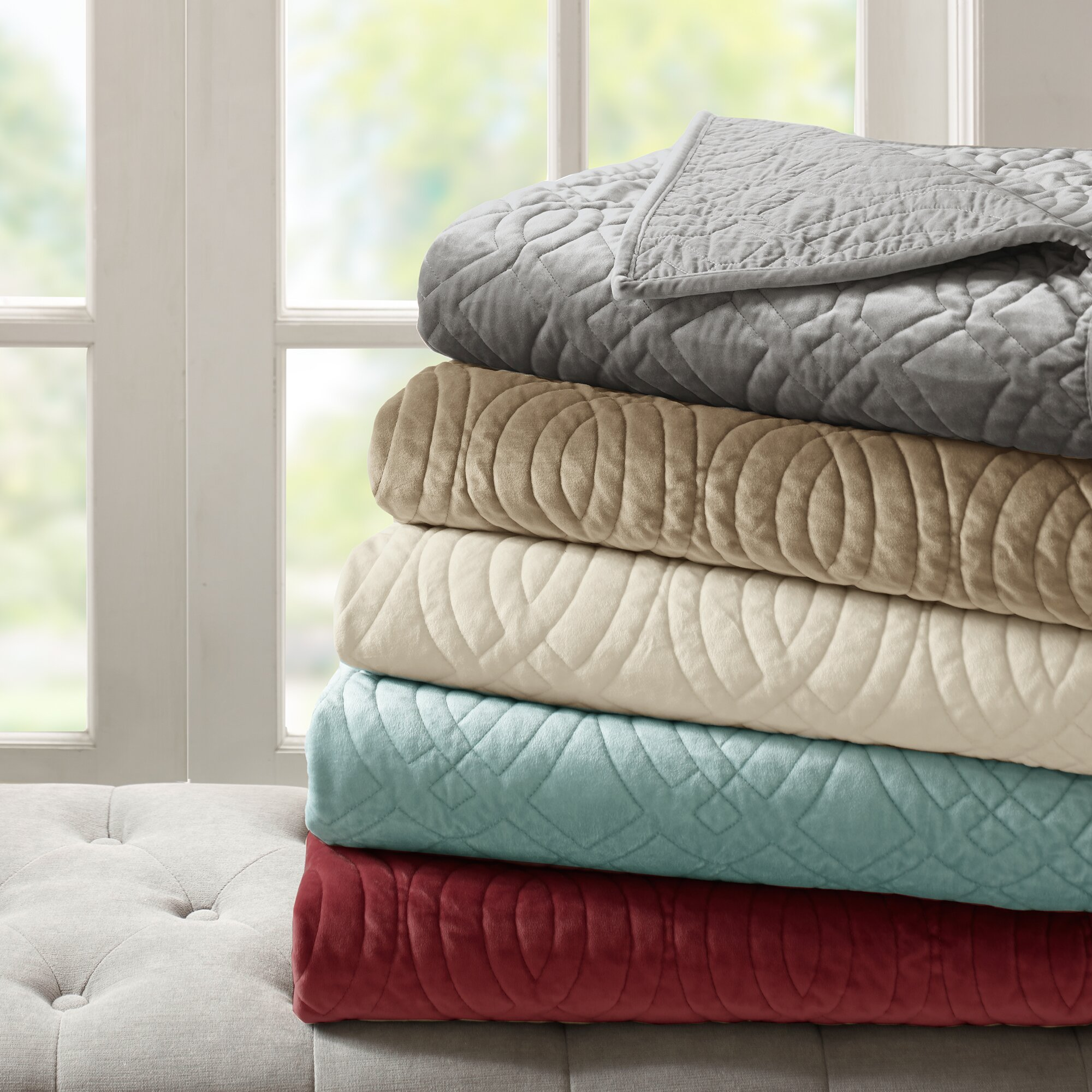 Bombay Taryn 4 Piece Reversible Quilt Set & Reviews