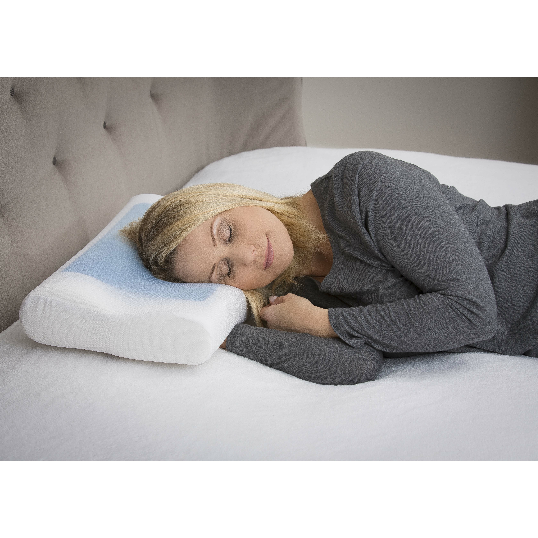 Modern Home Gel Pillow : Modernhome Ergonomic Memory Foam Gel Pillow Wayfair