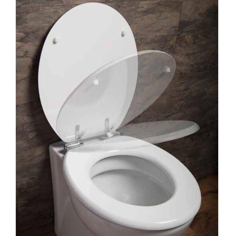 top fixing wooden toilet seat. Cassellie Top Fix Quick Release Heavy Duty Round Toilet  Mayfair
