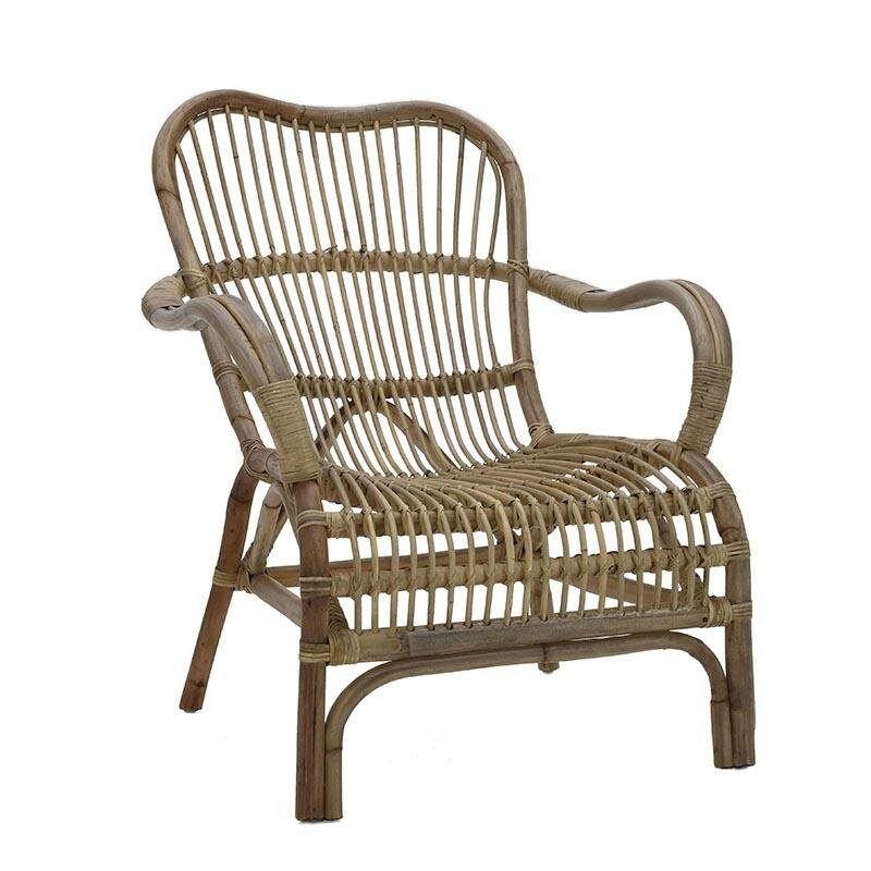 Inart Rattan Lounge Chair