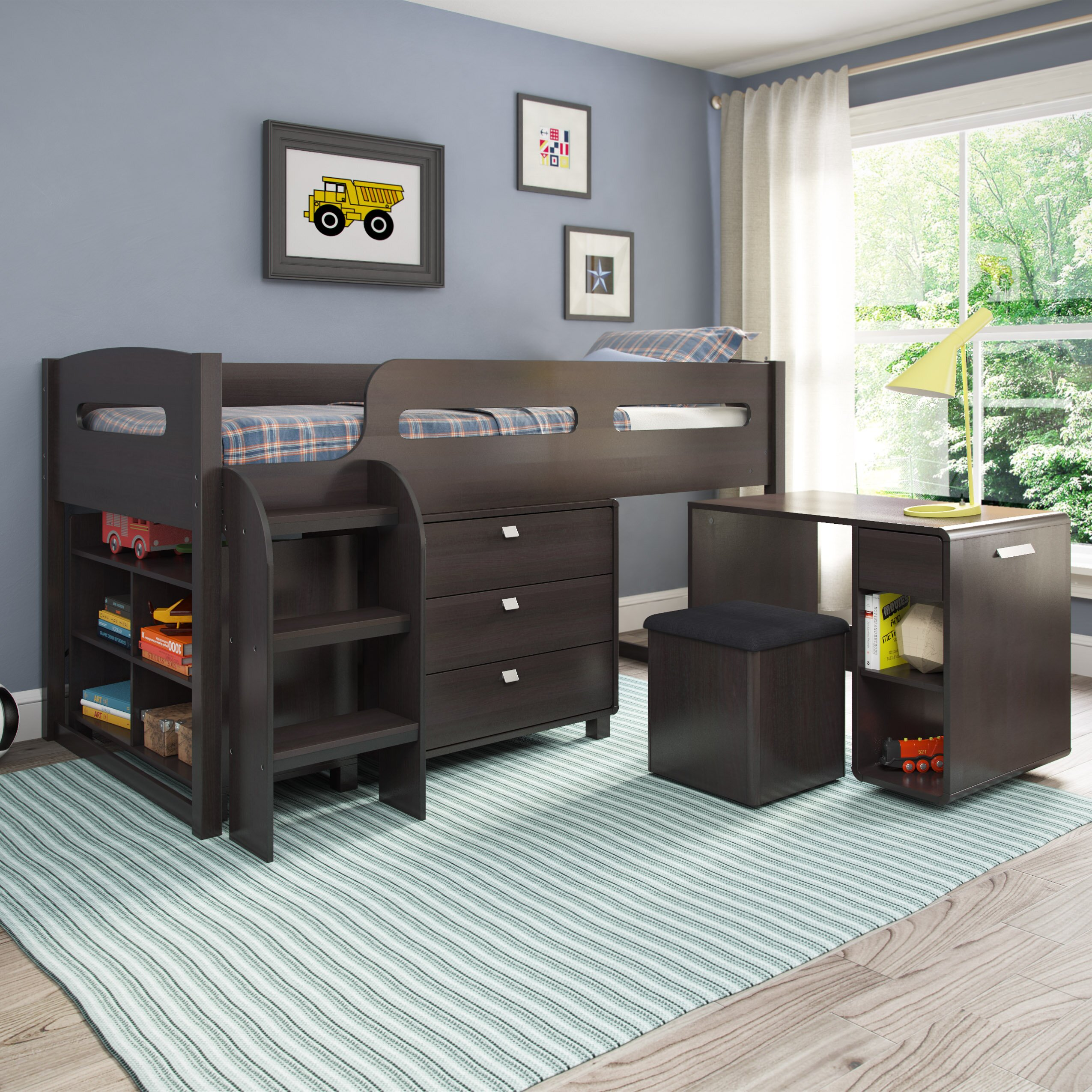 Corliving Madison Twin Loft Bed With Storage Amp Reviews