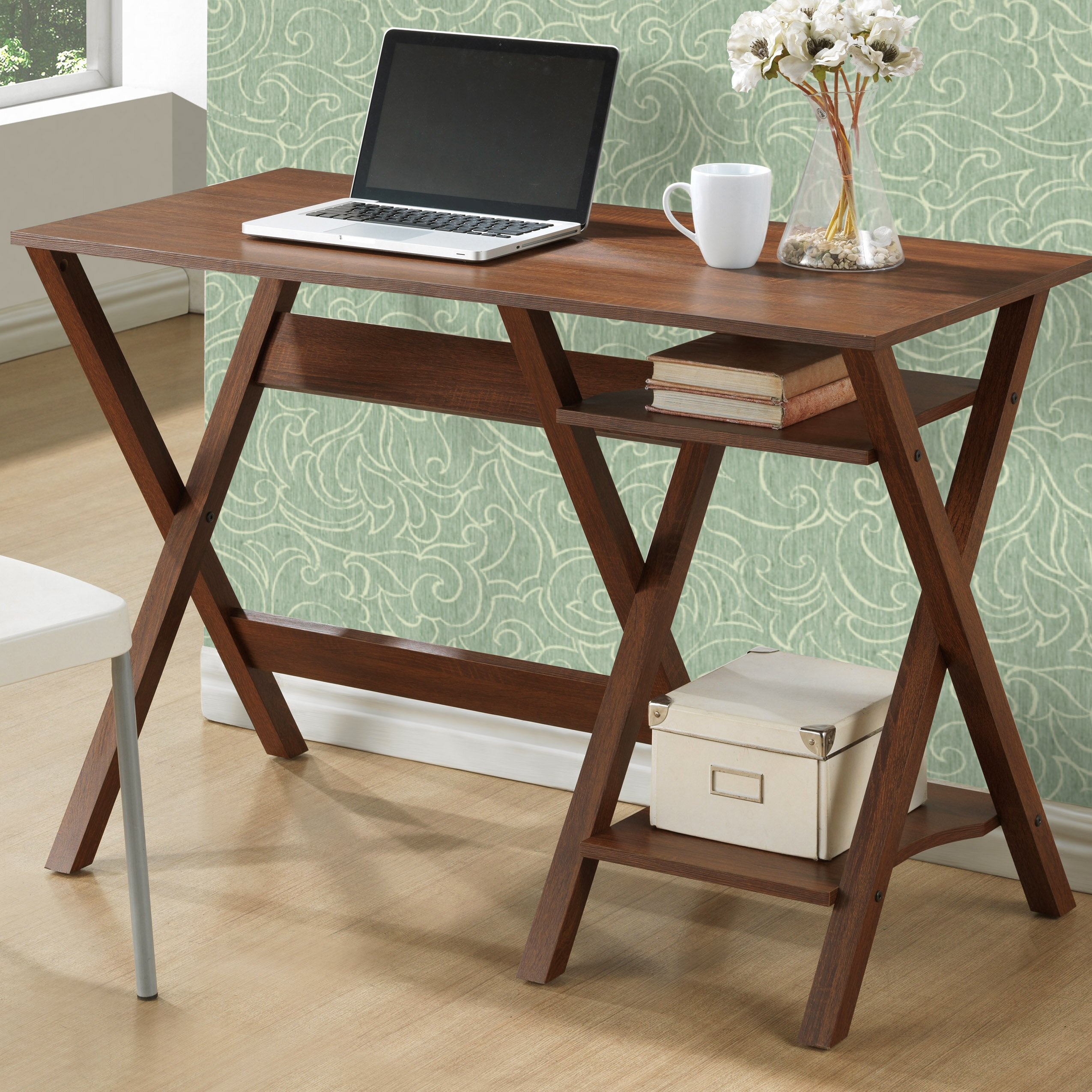 Writing Desk With Bookshelves kashioricom Wooden Sofa Chair