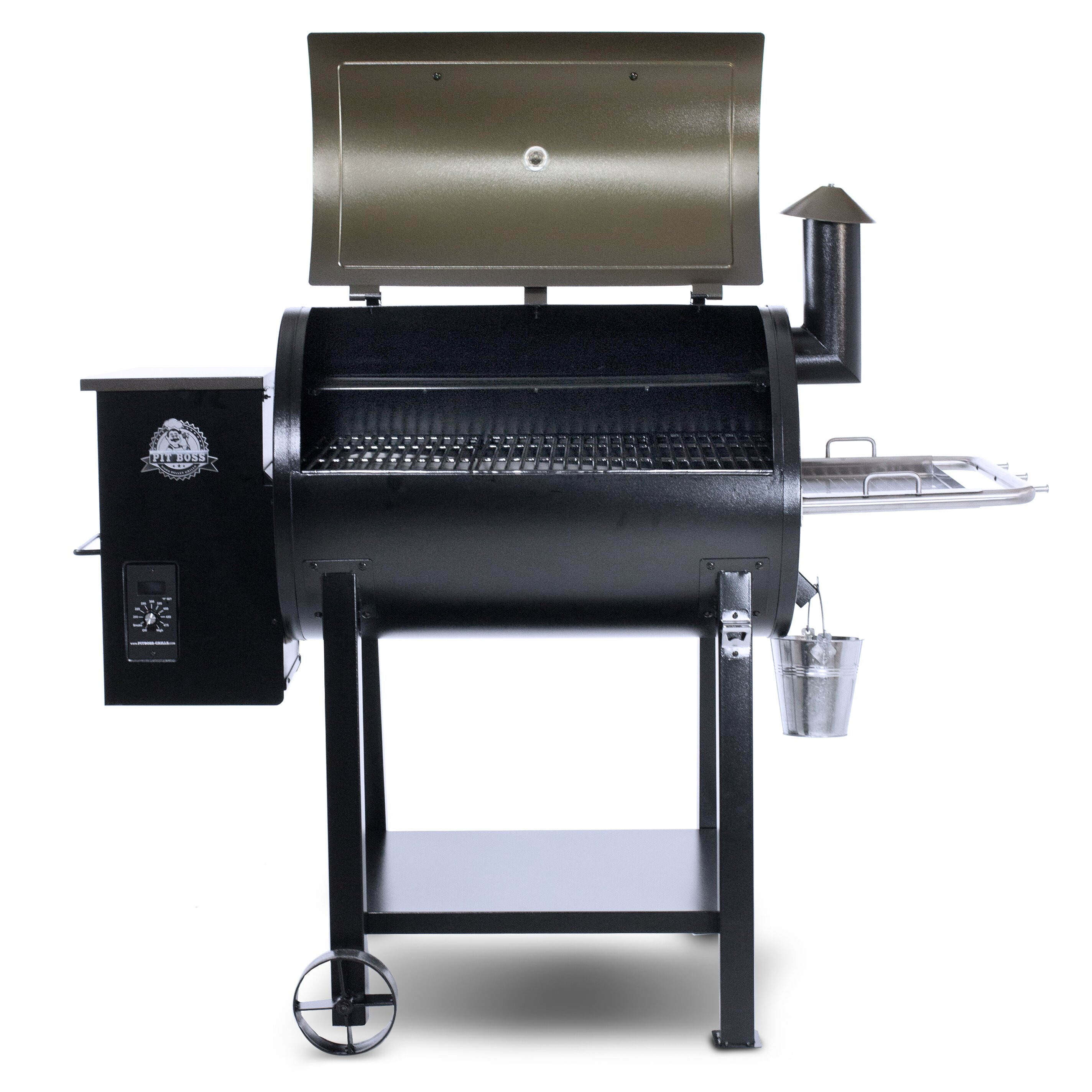 """Pit Boss 55.5"""" Wood/Pellet Grill with Smoker & Reviews ..."""
