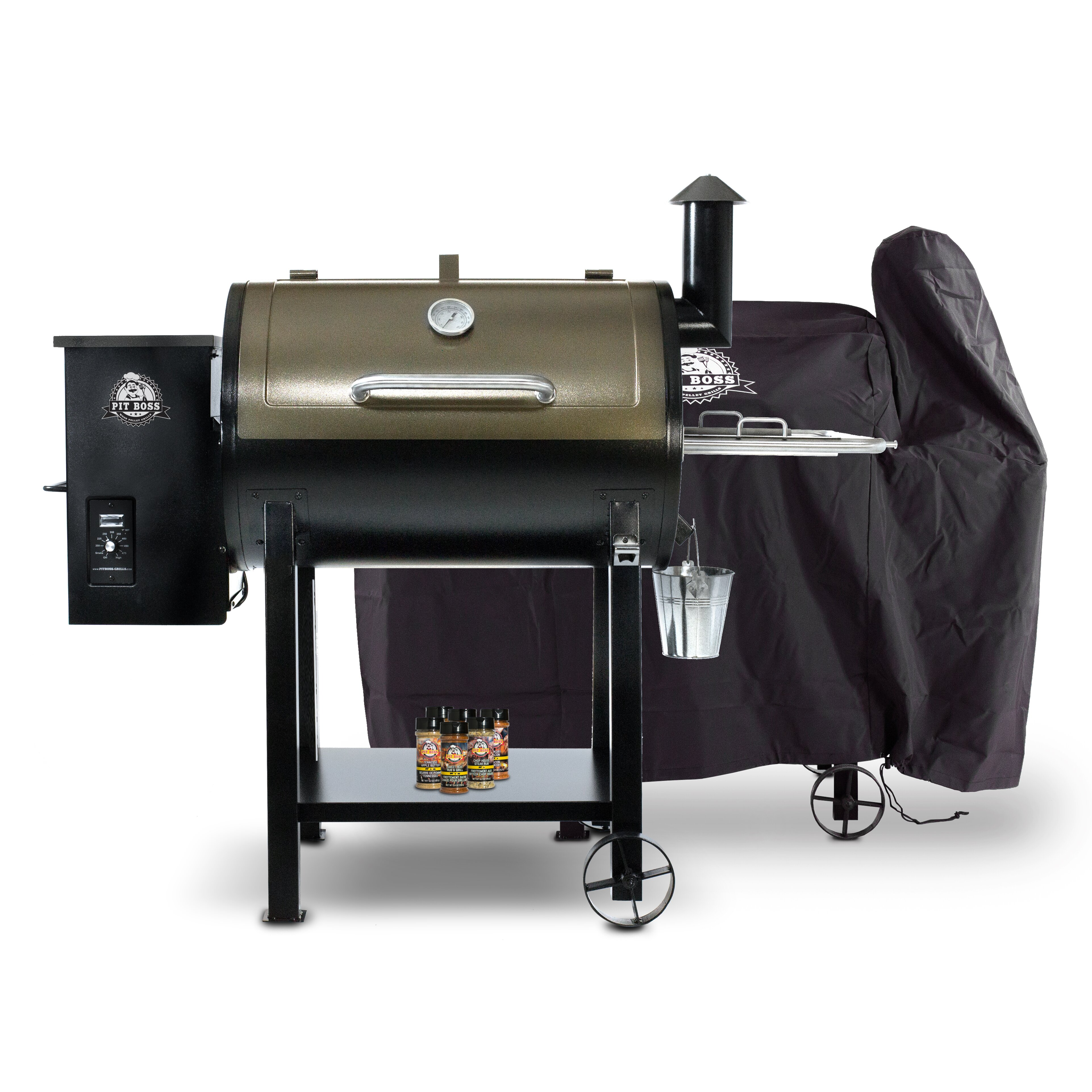 Pit Boss 820D Pellet Grill with Cover and Spice Pack   Wayfair ca