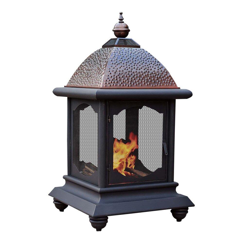 Sunjoy Cobbler Steel Outdoor Fireplace Reviews Wayfair