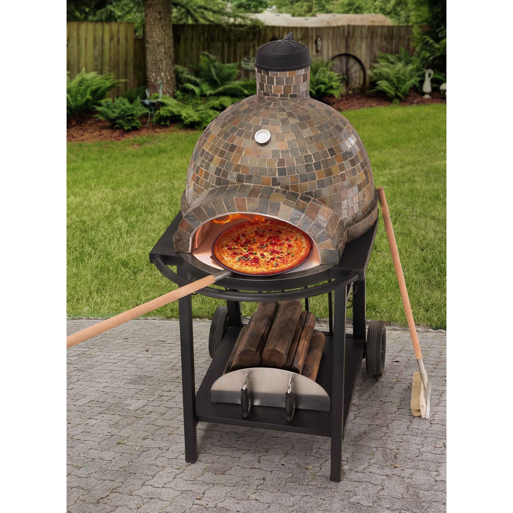 Mediterranean wood fired pizza oven - Sunjoy Wood Fired Pizza Oven