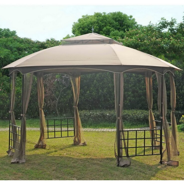 Sunjoy replacement mosquito netting for 11 39 w x 13 39 d new - Insect netting for gazebo ...