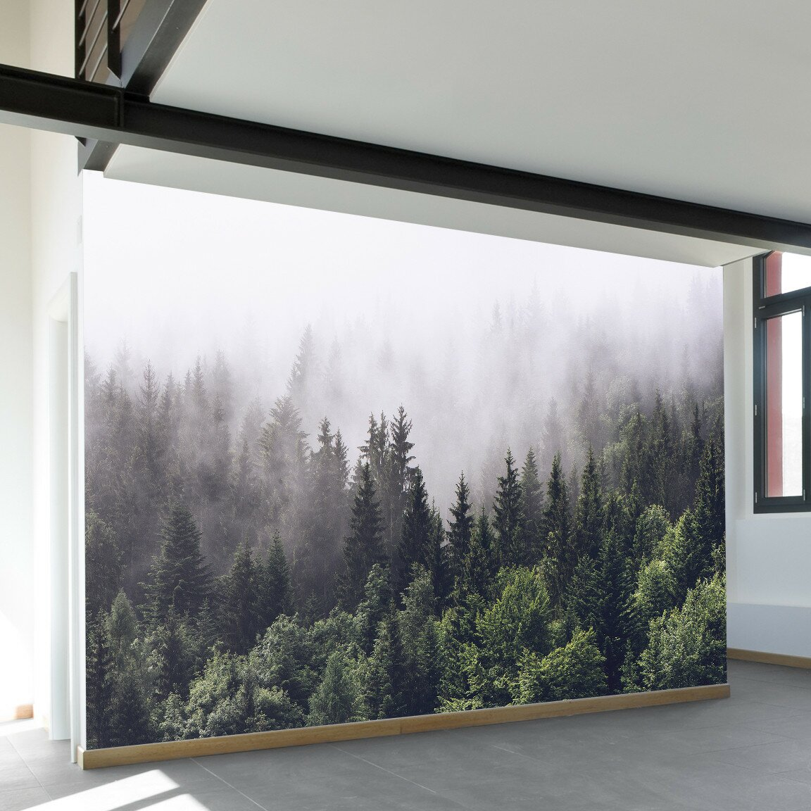 walls need love misty forest wall mural amp reviews wayfair forest wall murals for a serene home decor adorable home