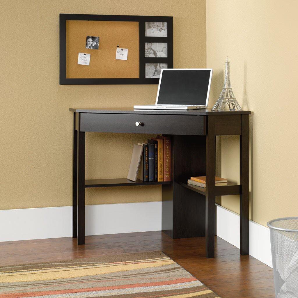Gerardo Corner Computer Desk with Keyboard Tray - Corner Desks You'll