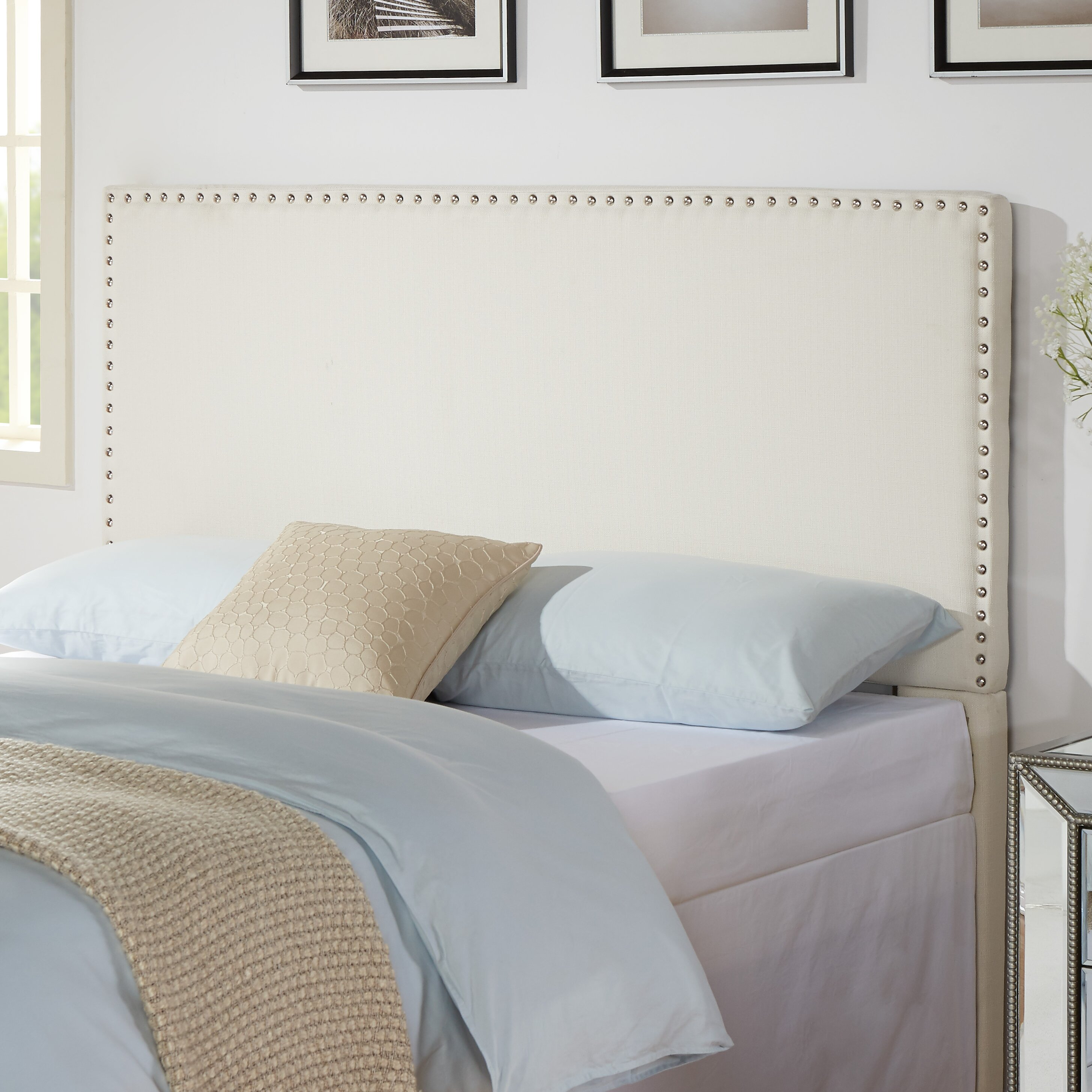 How to cover a headboard - Zipcode Trade Design Kelsey Upholstered Headboard