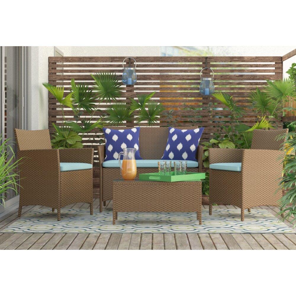 Green Navy Rug: Lucia Ivory/Green/Navy Blue Indoor/Outdoor Area Rug