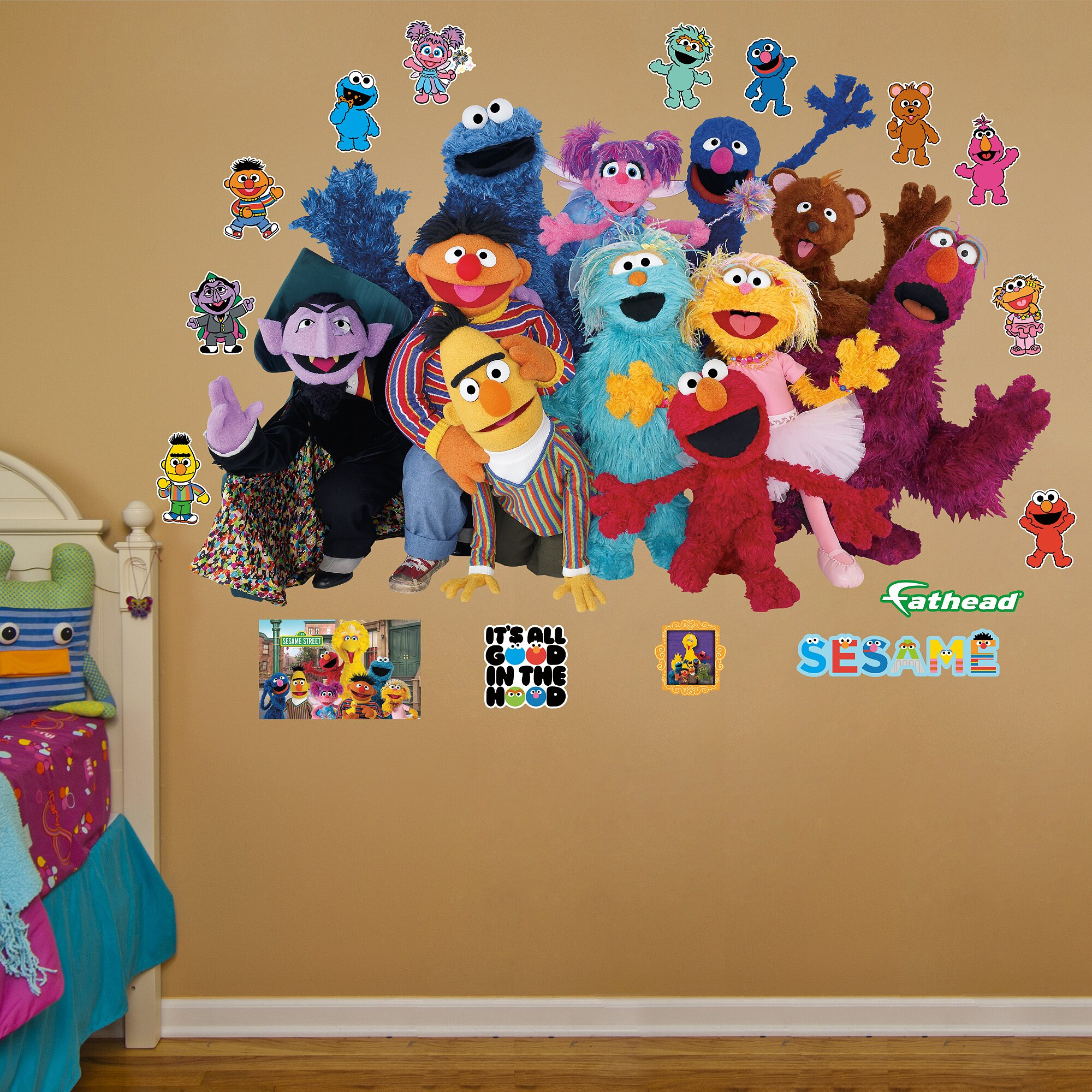 Fathead RealBig Sesame Street Group Wall Decal