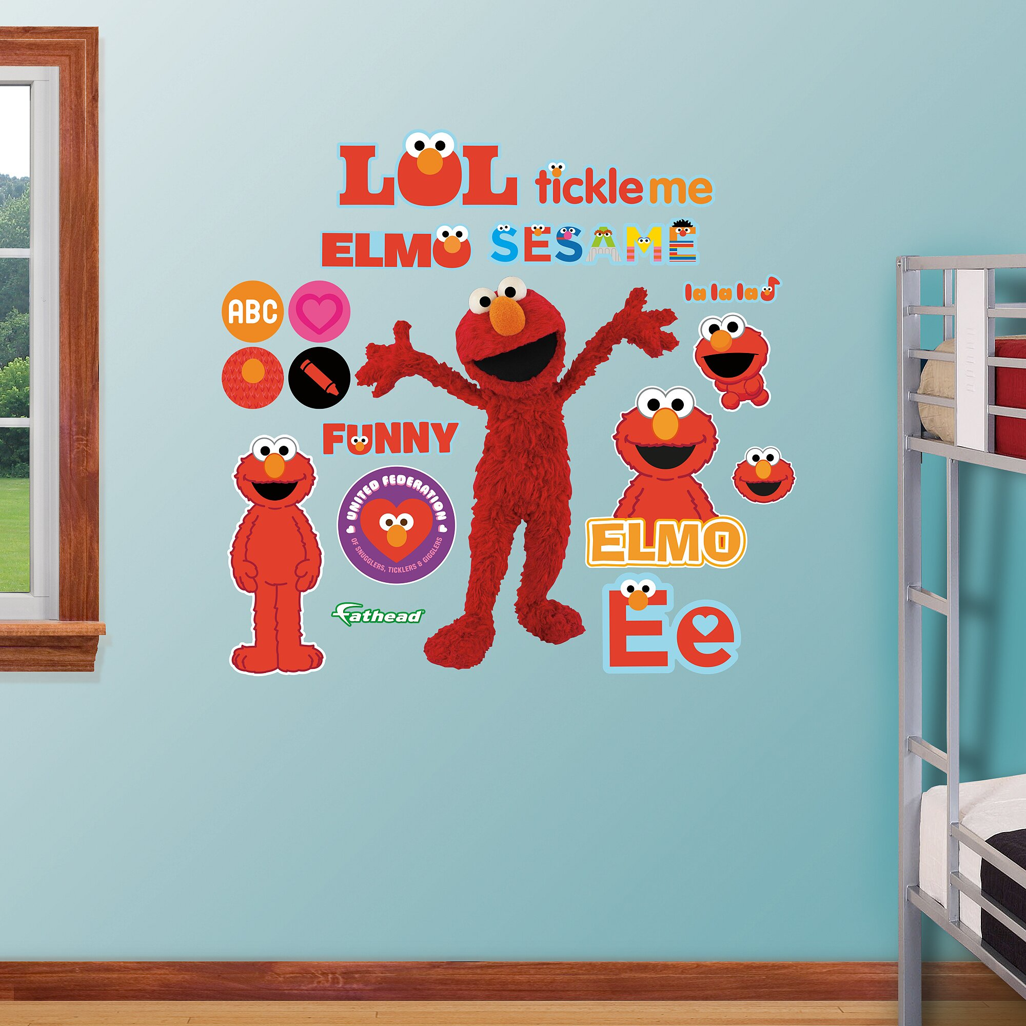 Fathead RealBig Sesame Street, Elmo Wall Decal Part 42