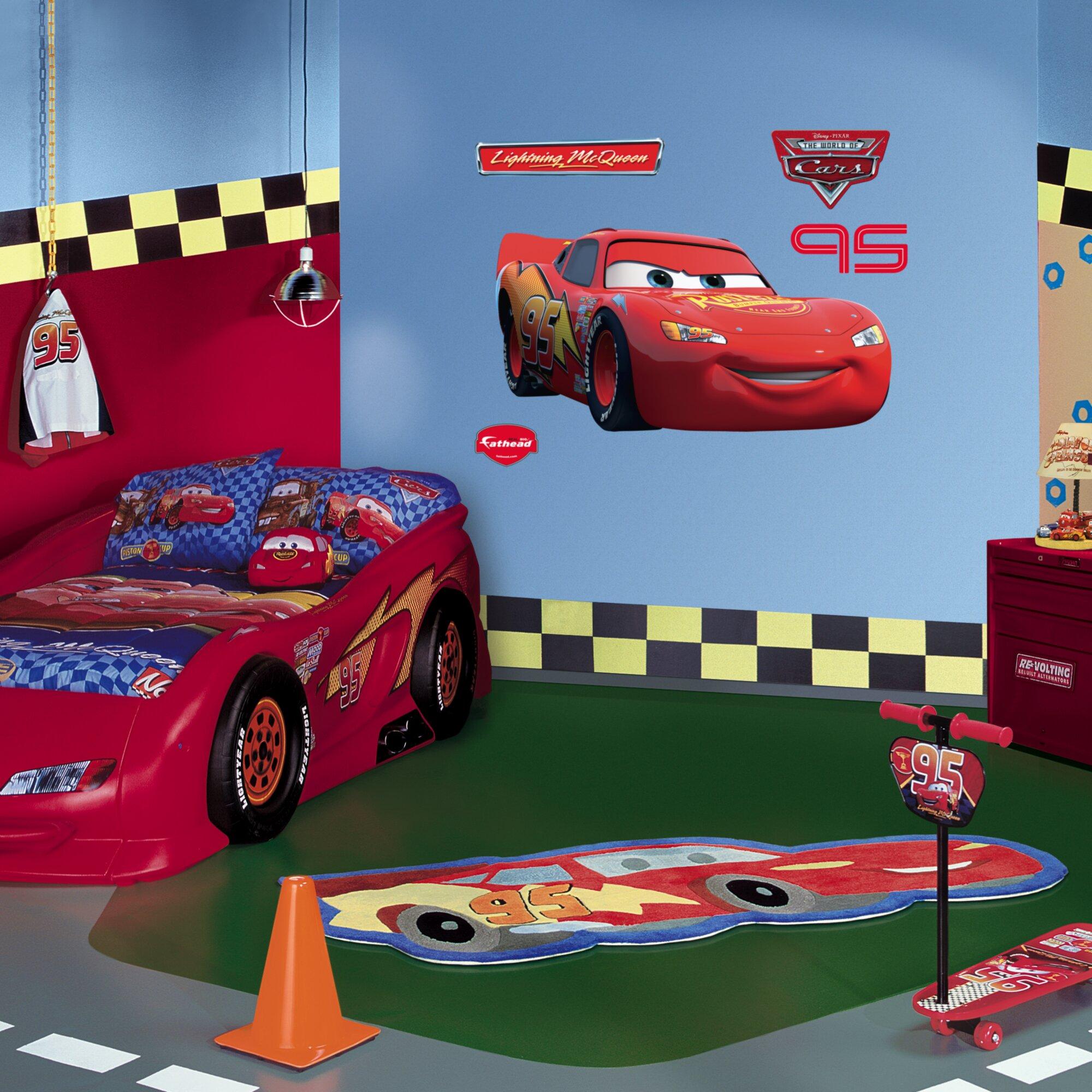Fathead Disney Lightning McQueen Wall Decal Fathead Disney Lightning  McQueen Wall Decal Reviews Wayfair. Lightning