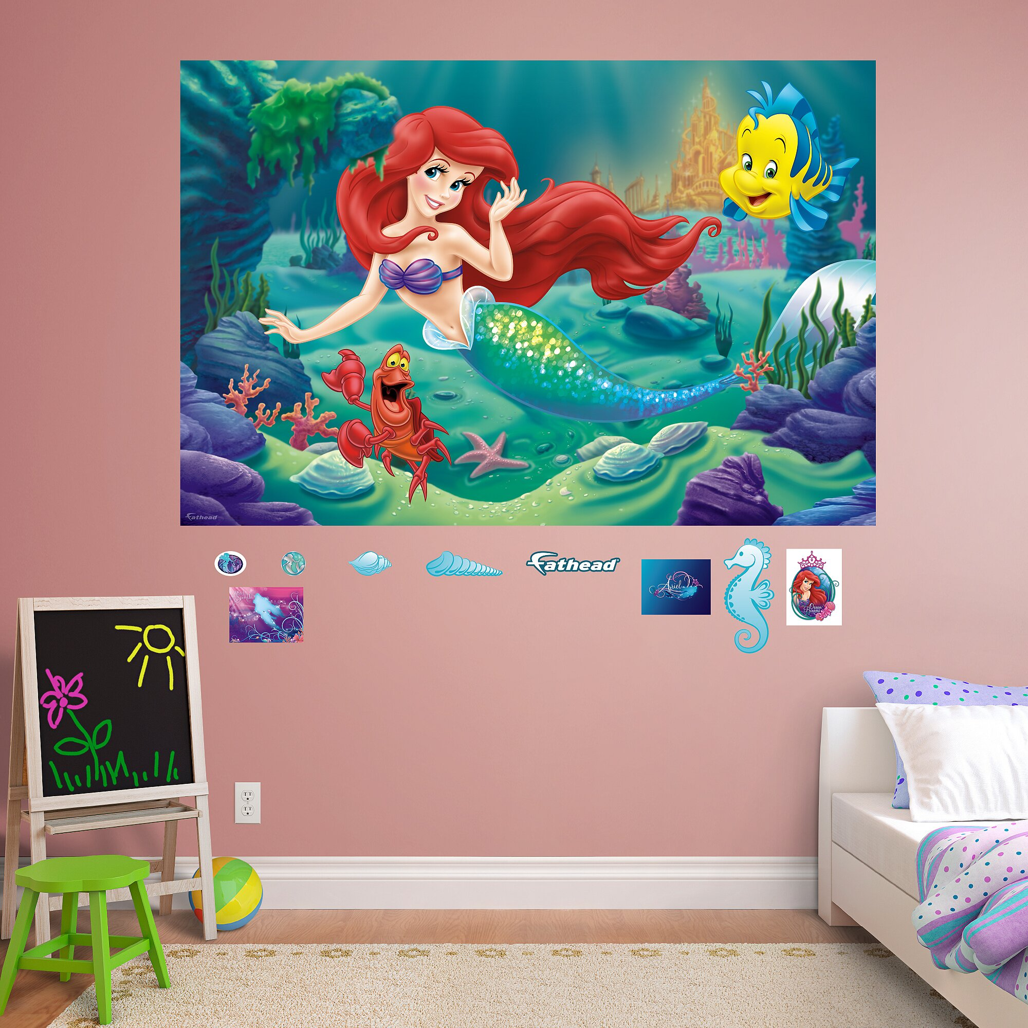 Fathead Disney - The Little Mermaid Peel and Stick Wall Decal