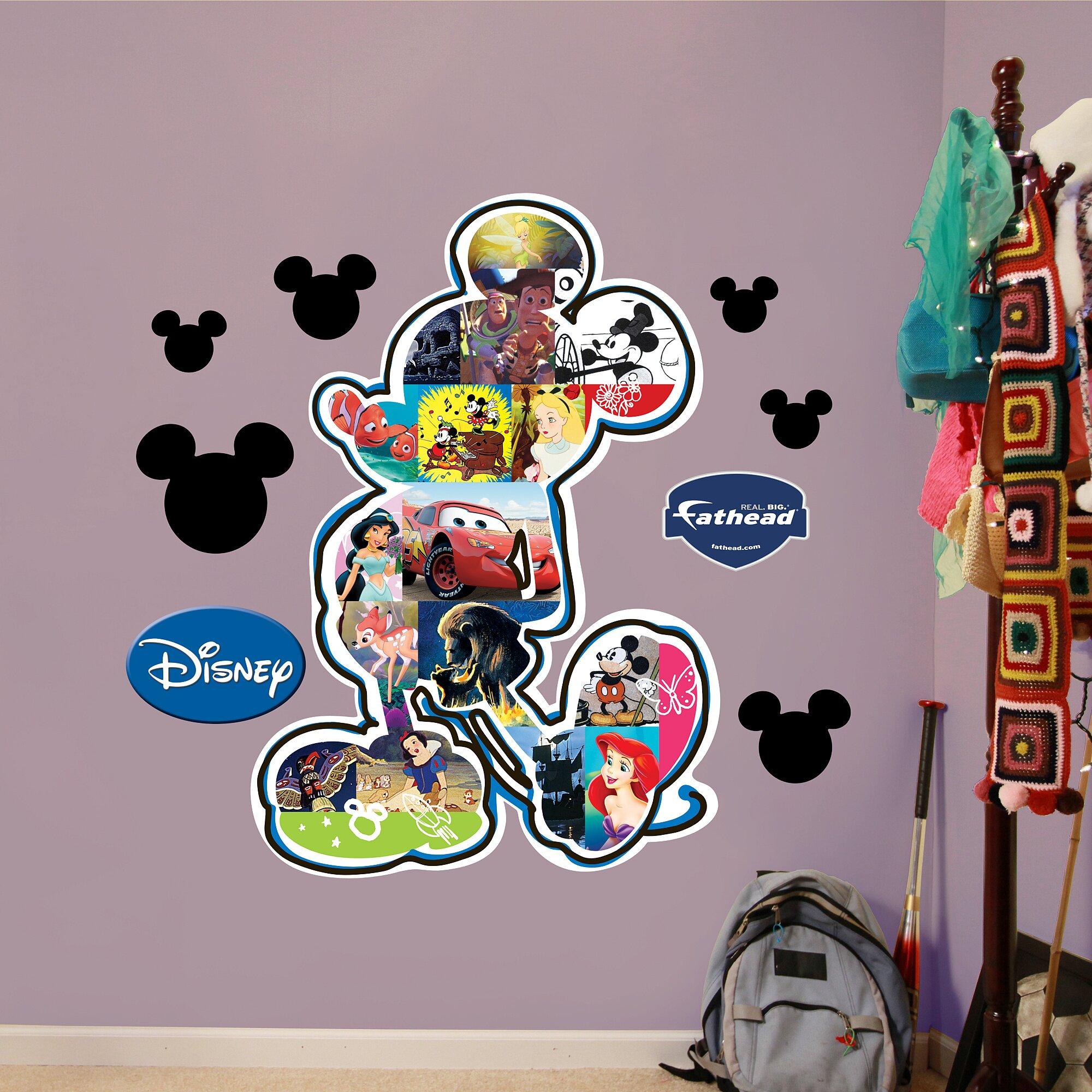 Fathead Disney Mickey Mouse Movie Montage Wall Decal. Fathead Disney Mickey Mouse Movie Montage Wall Decal   Wayfair