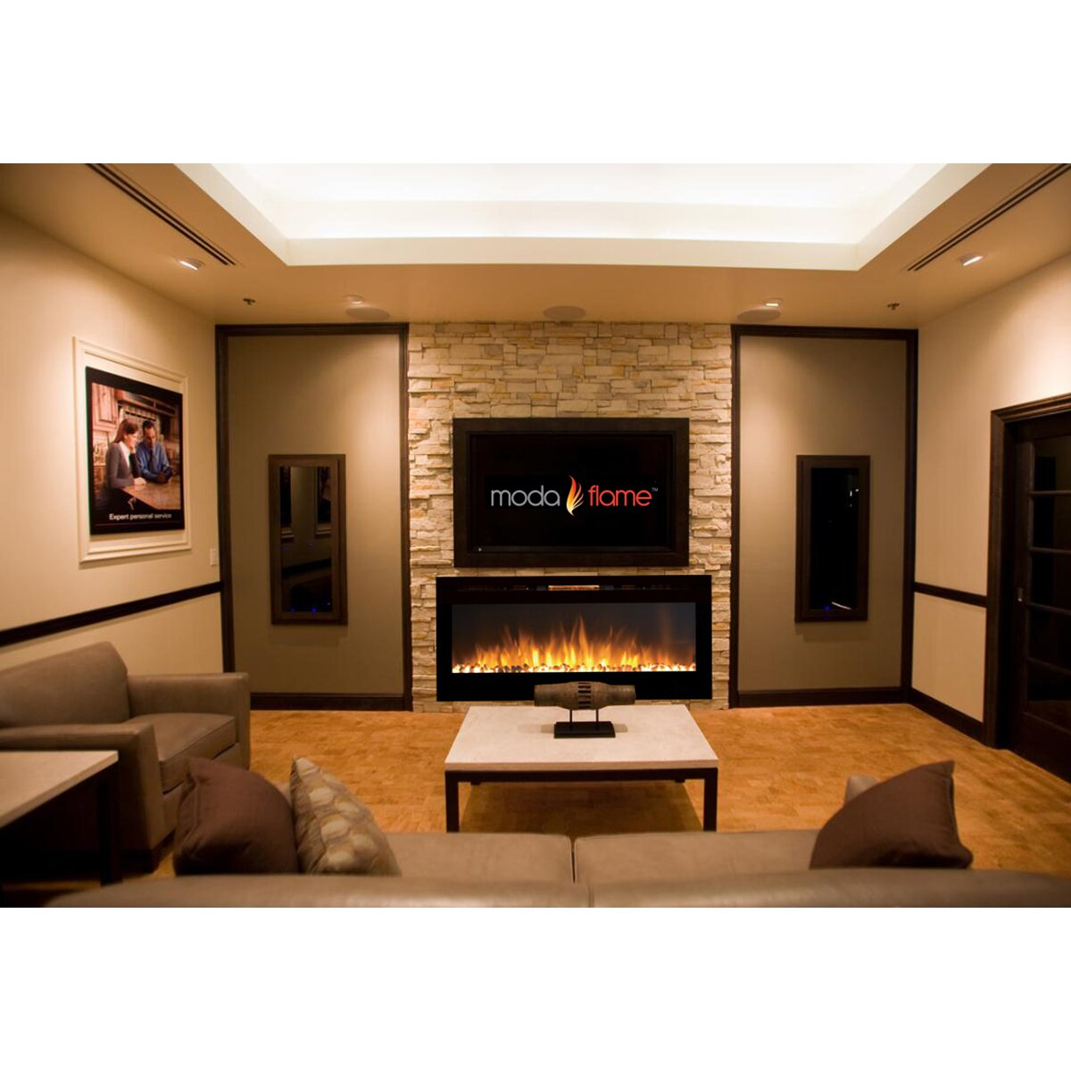 moda flame pro cynergy pebble stone built in wall mount. Black Bedroom Furniture Sets. Home Design Ideas