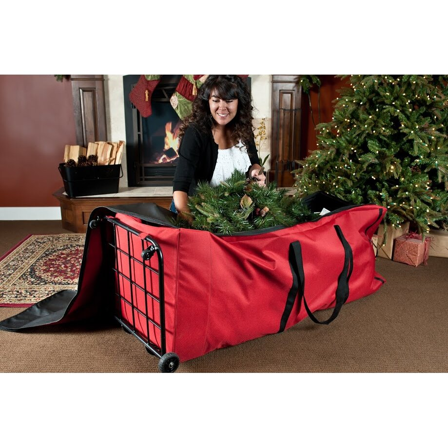 Storage bags for christmas trees - Treekeeper Santa S Bags Premium Christmas Tree Dolly Extra Large Storage Bag