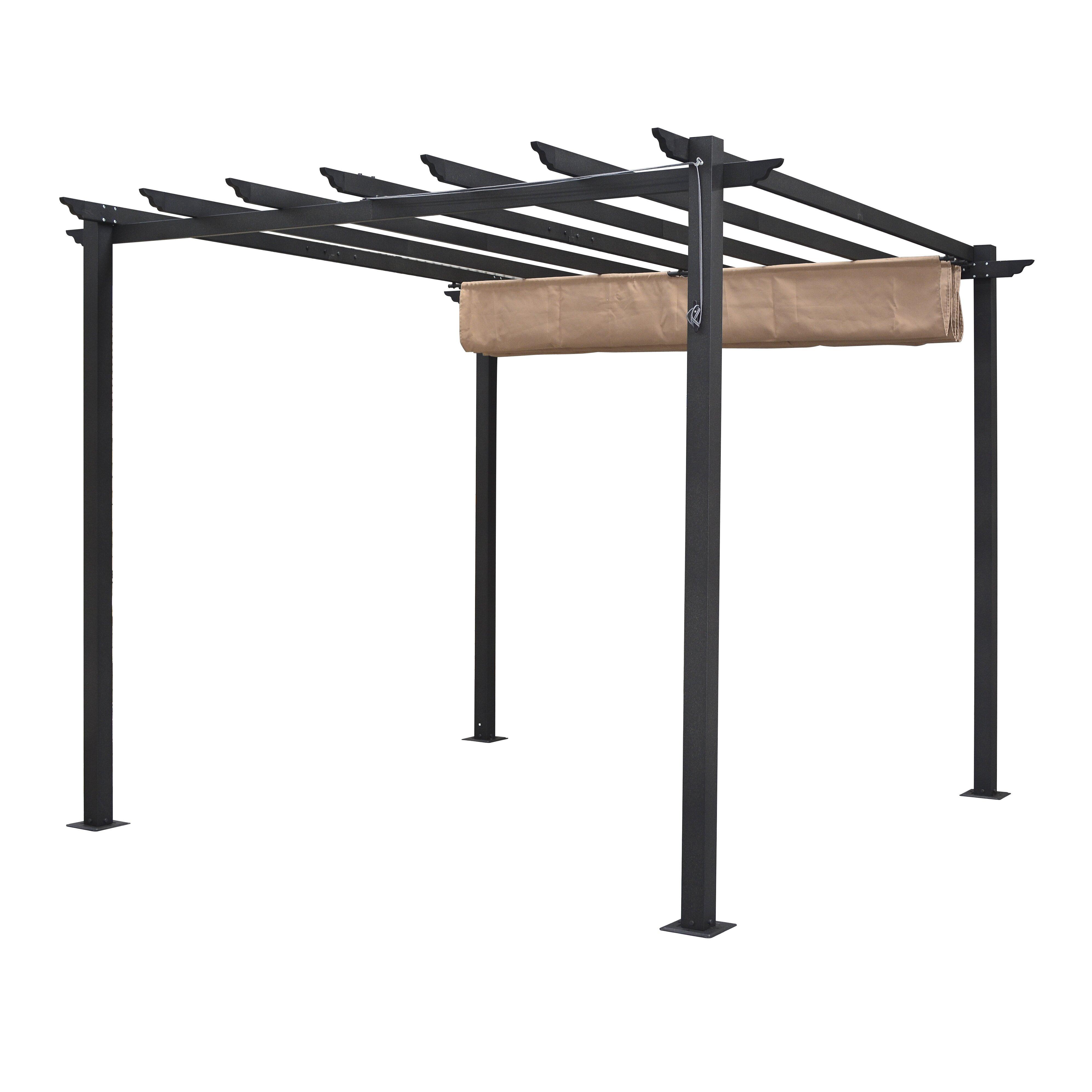 rowlinson latina 10 ft h x 8 ft w x 8 ft d pergola. Black Bedroom Furniture Sets. Home Design Ideas