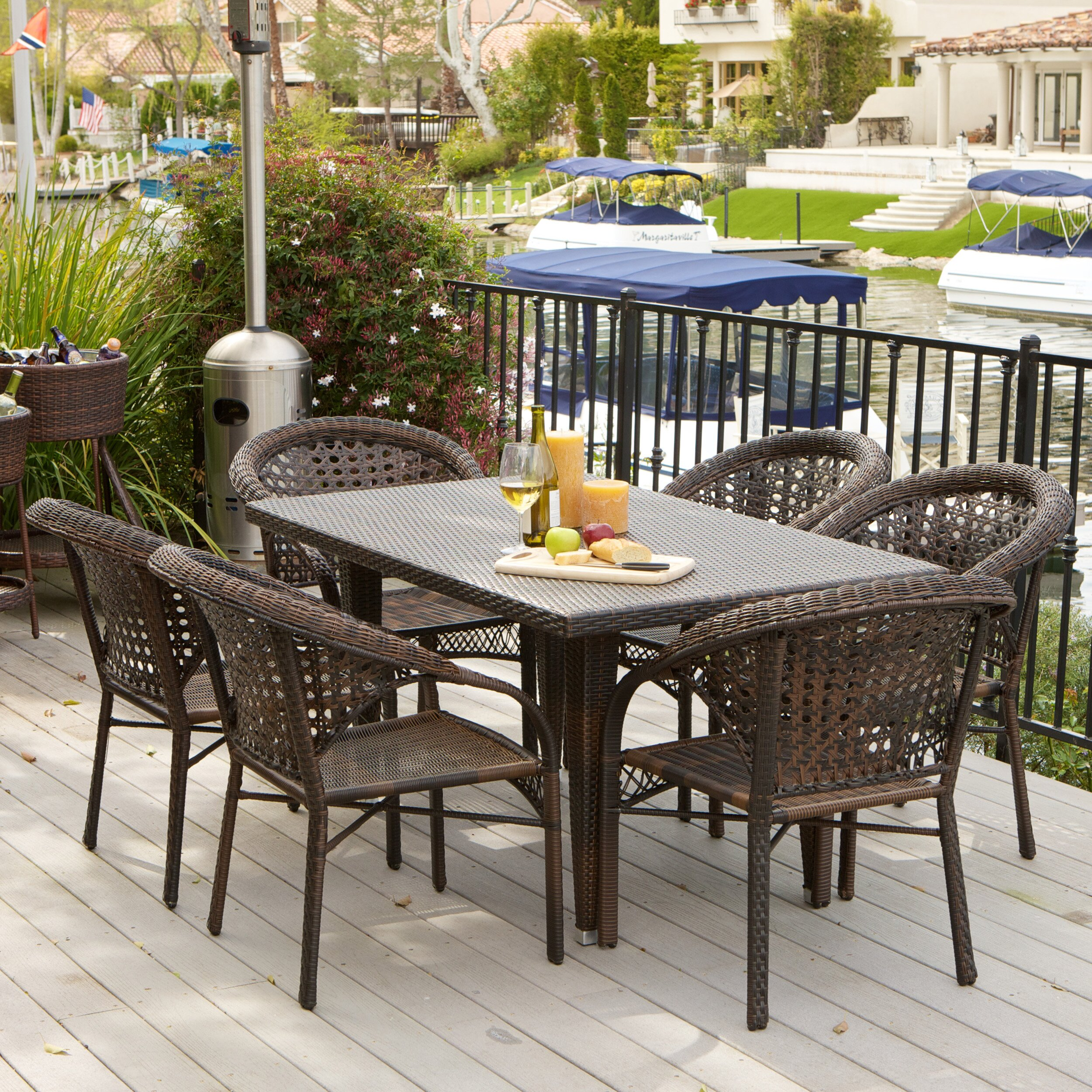 Home Loft Concepts Norwich 7 Piece Outdoor Dining Set. Seasonal Concepts  Patio Furniture