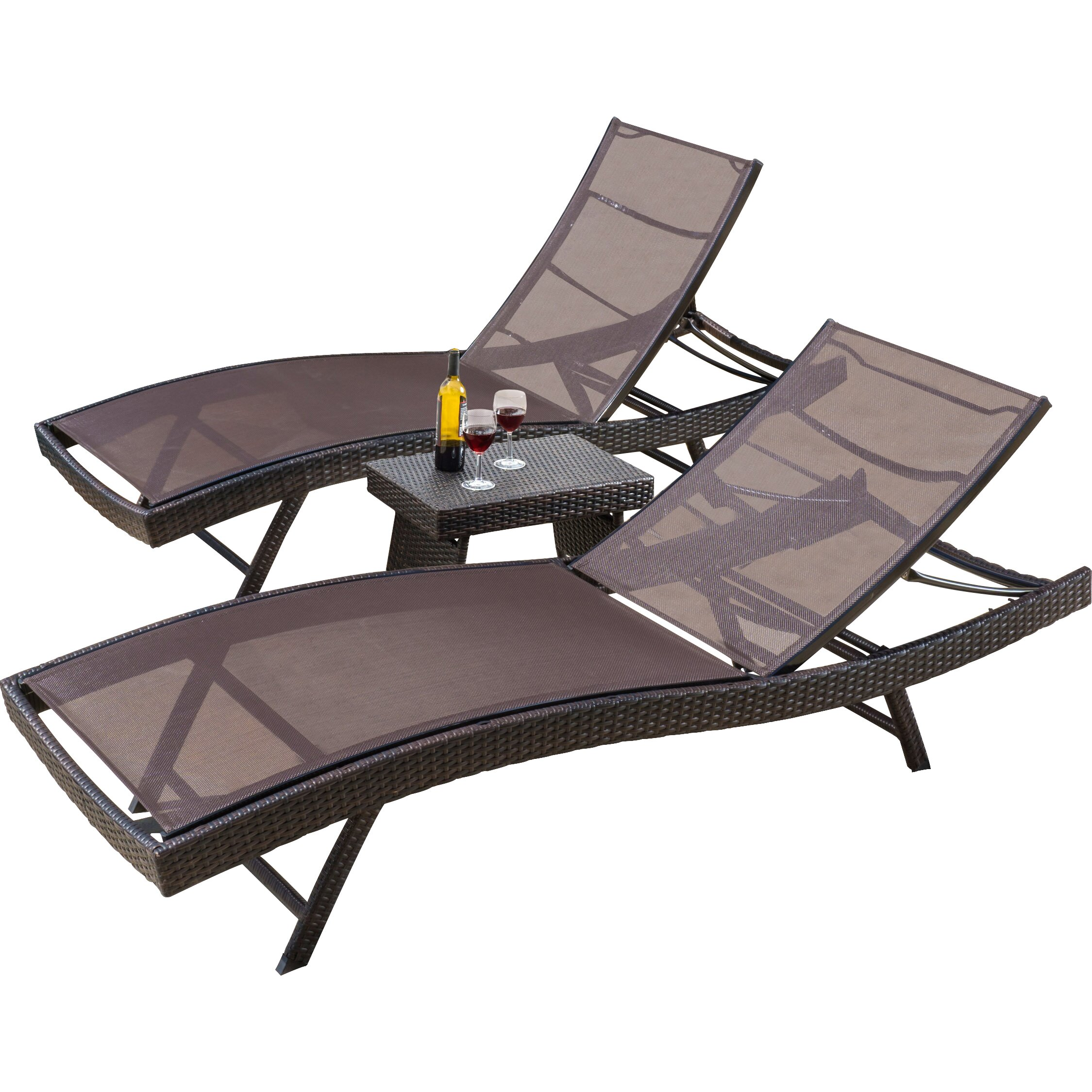 Home Loft Concepts Halulu 3 Piece Chaise Lounge Set & Reviews