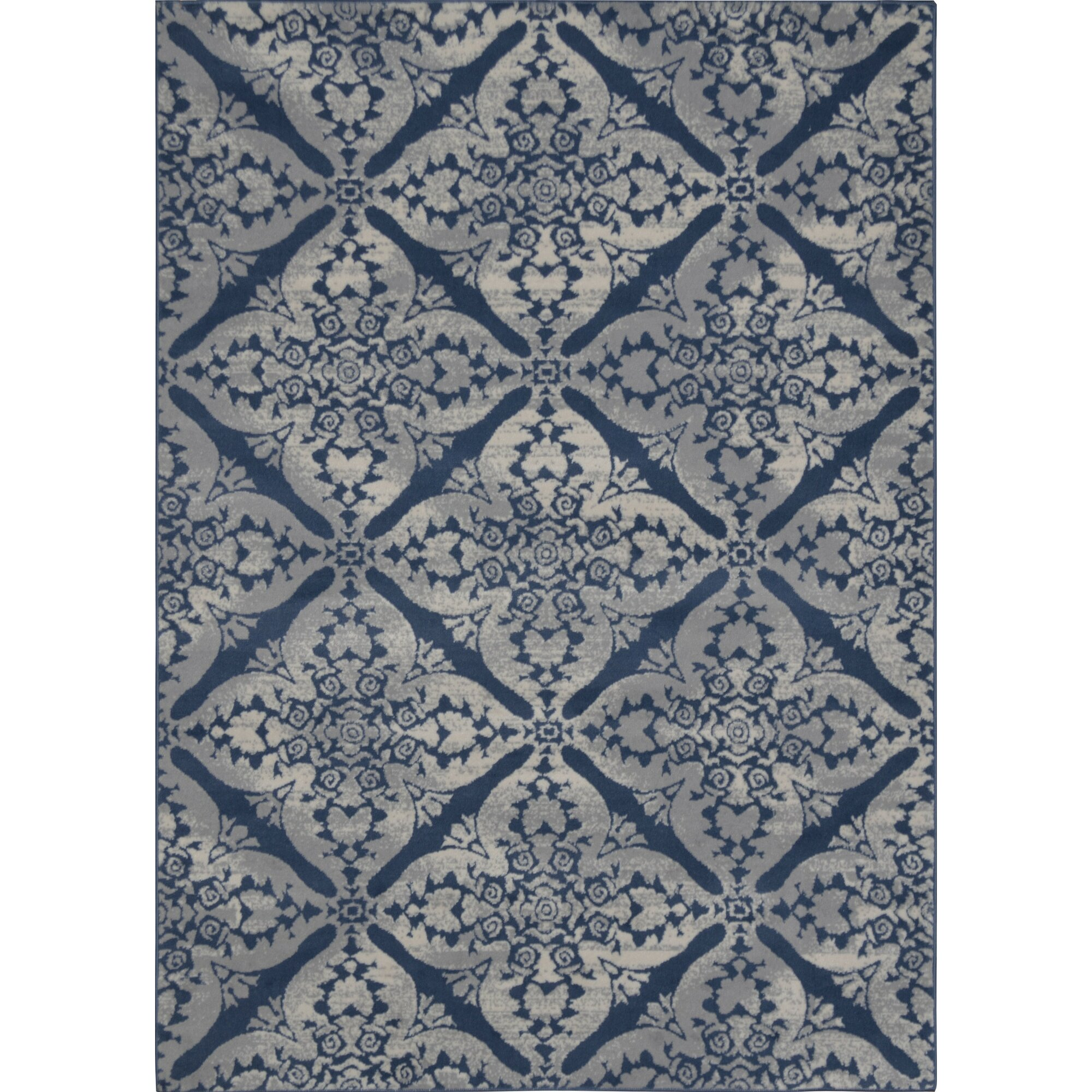 Jennifer Blue u0026 Gray Hand-Tufted Area Rug