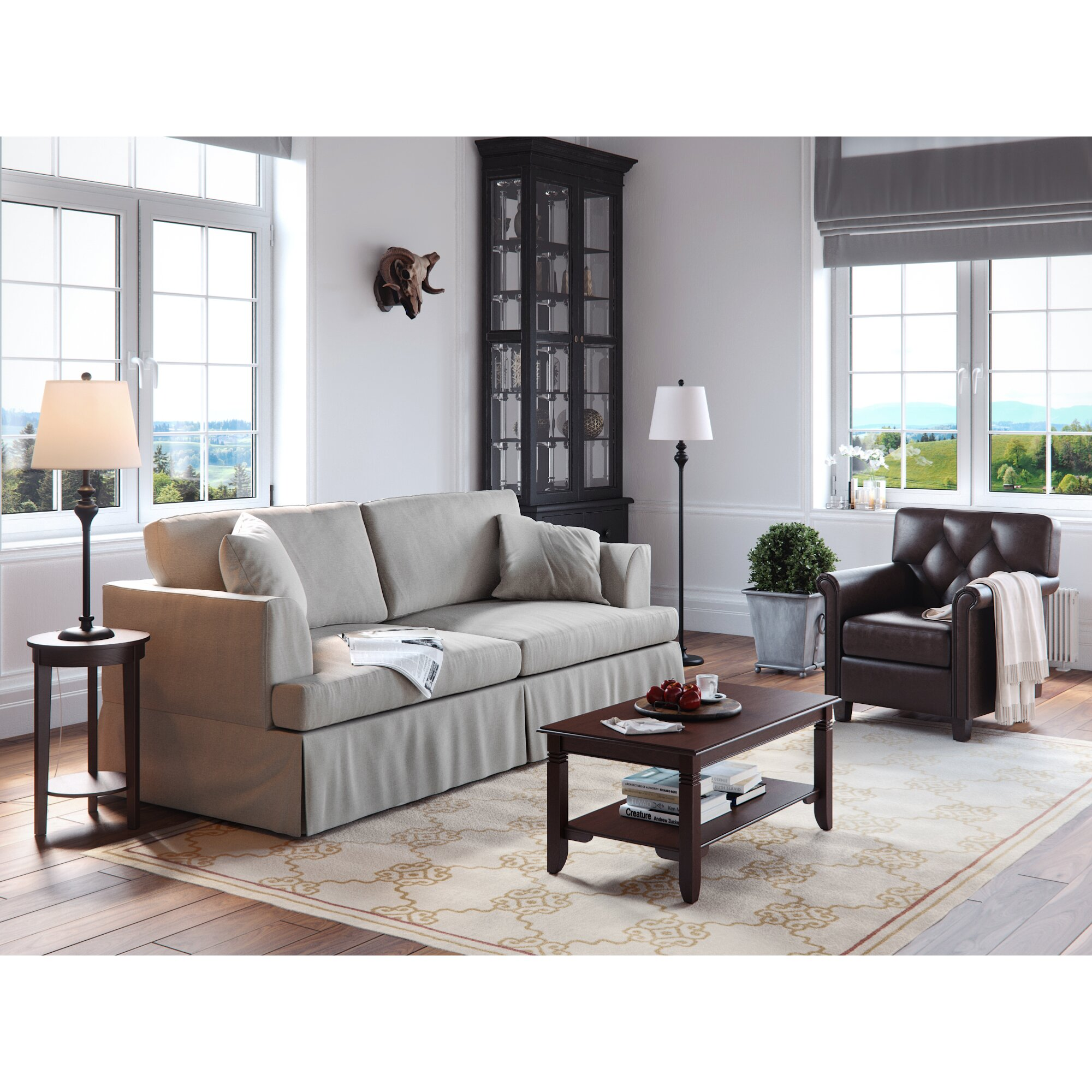 Living room lamp sets modern house andover mills 3 piece table and floor lamp set geotapseo Gallery