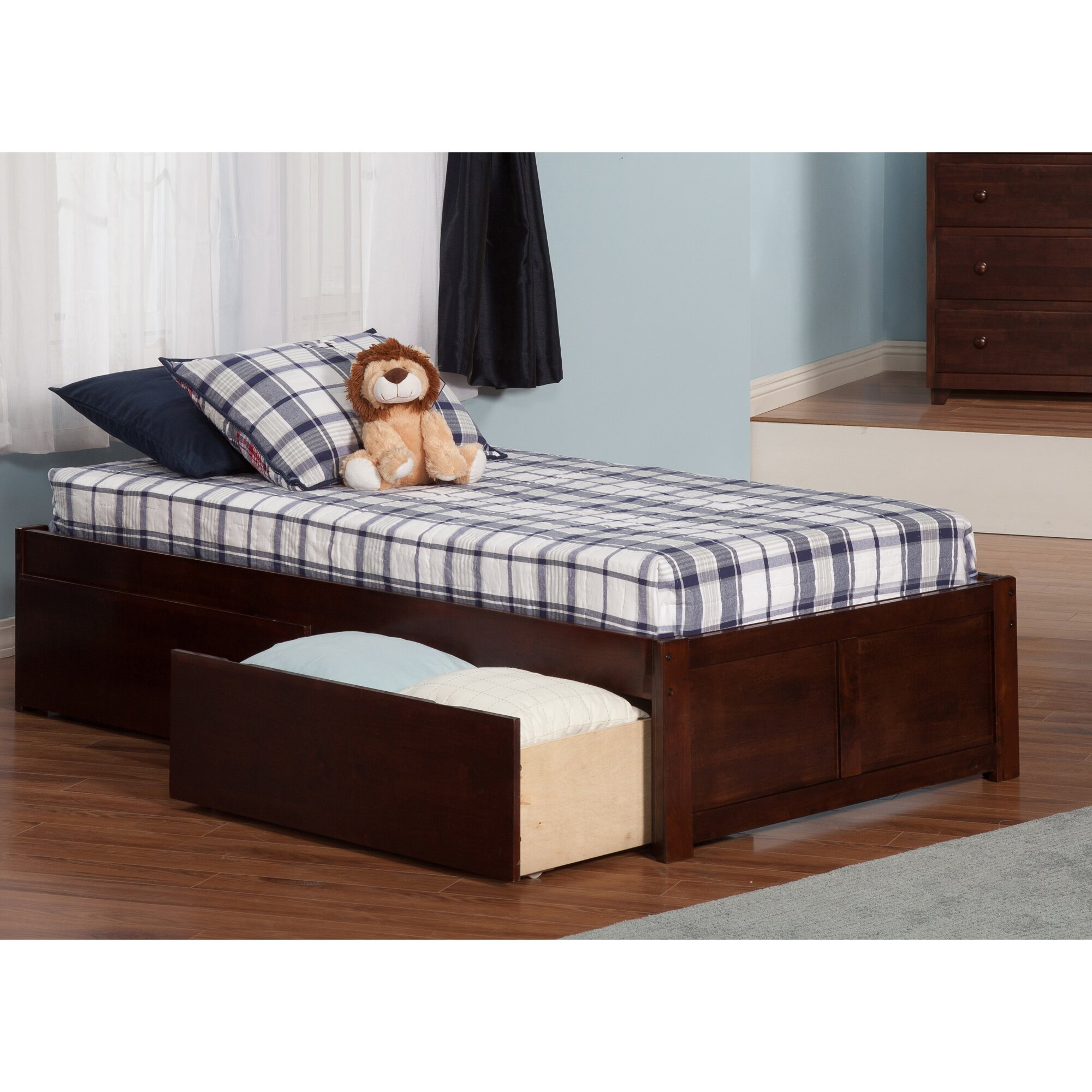 andover mills mackenzie extra long twin platform bed with storage reviews wayfair. Black Bedroom Furniture Sets. Home Design Ideas