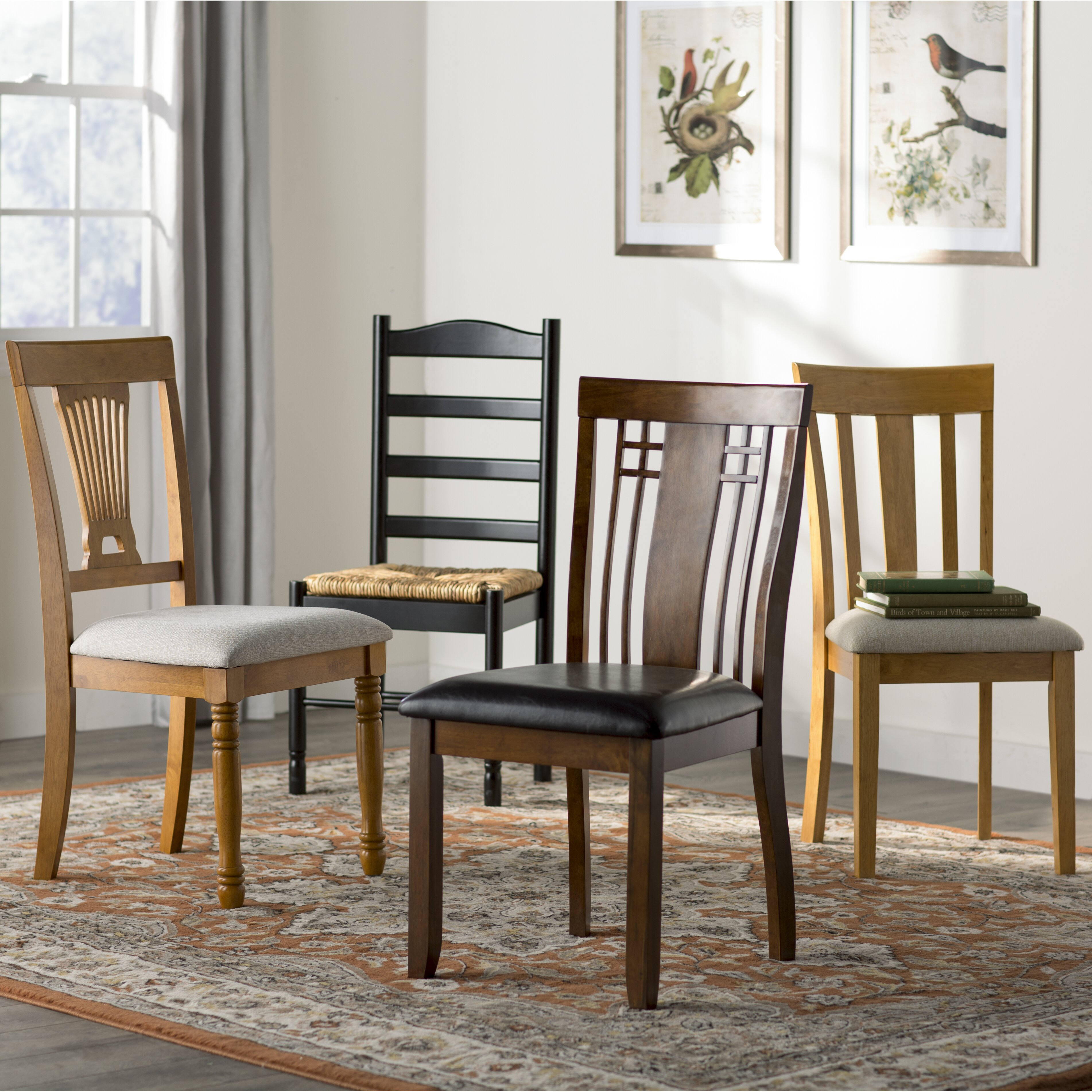 Andover Mills Bradlee Dining Chair Set  Reviews Wayfair - Dining chairs in living room