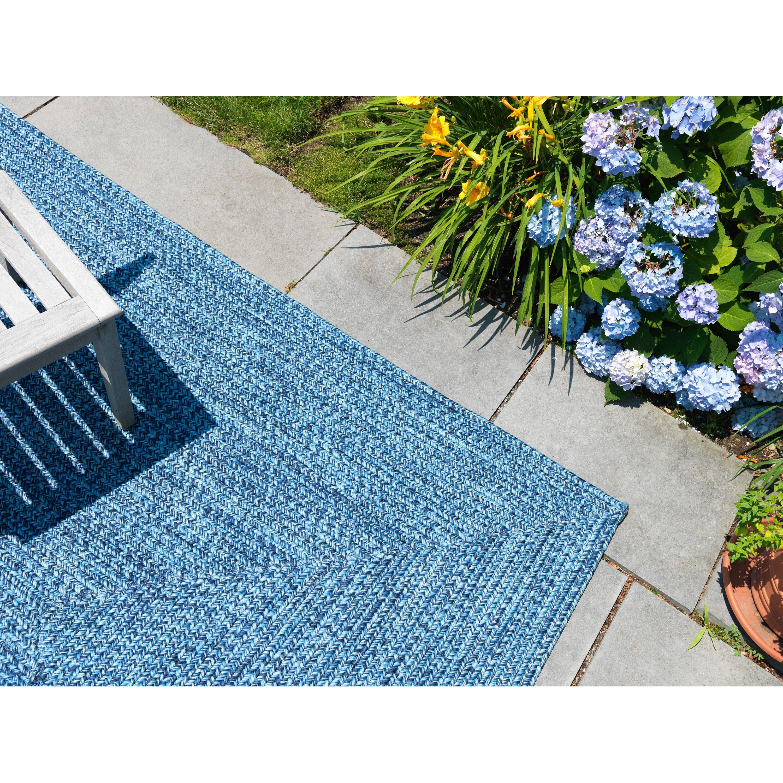 Andover Millsu0026reg; Rockland Blue Wave Indoor/Outdoor Area Rug