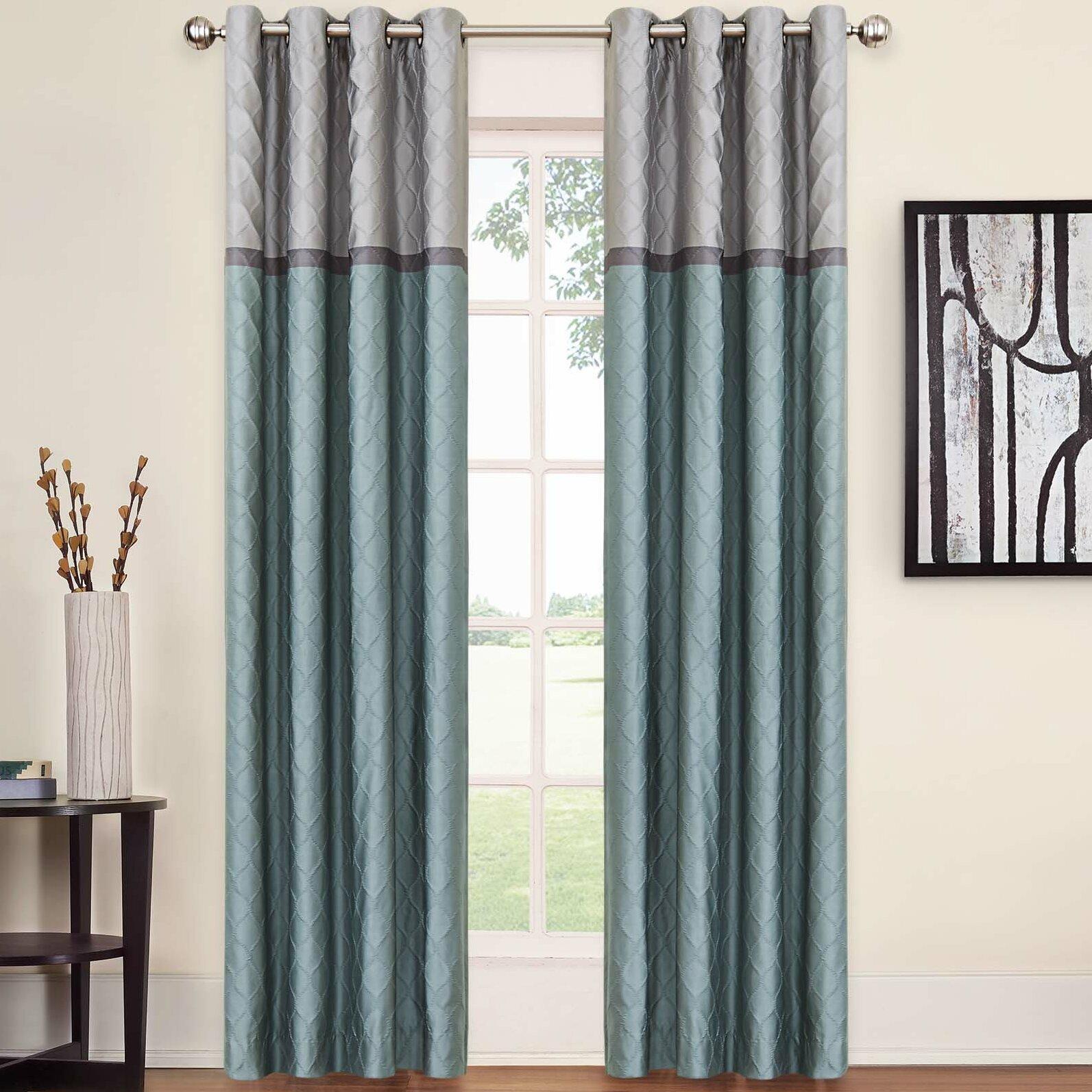 Dark purple patterned curtains - Rothsville Blackout Single Curtain Panel