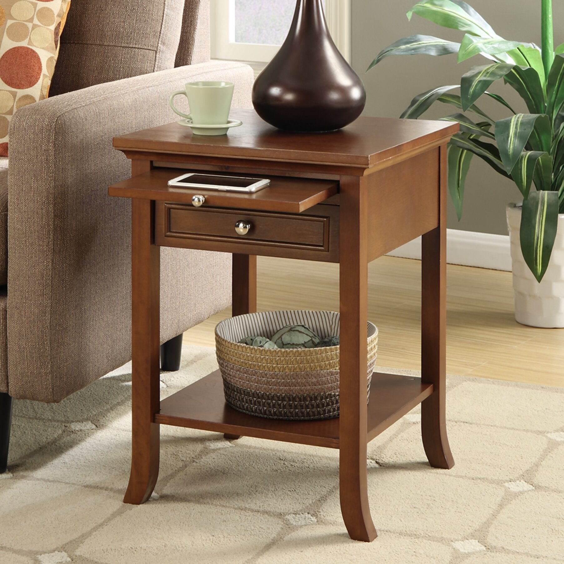 American Heritage End Table by Andover Mills