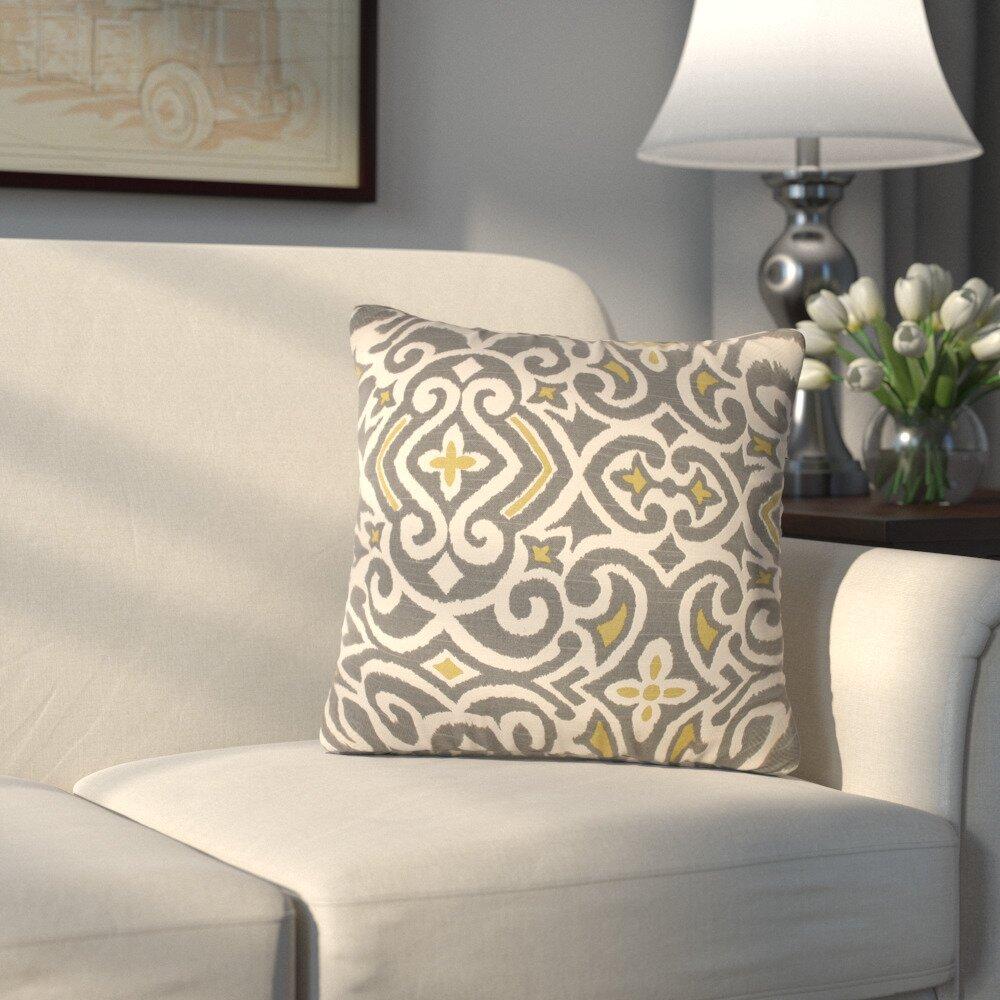Andover Mills Ansonia Damask Throw Pillow Amp Reviews Wayfair