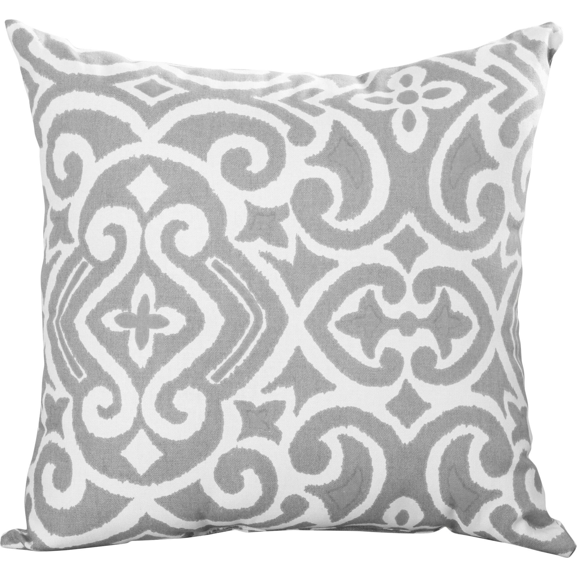 Brown and teal throw pillows - Andover Mills Reg Ansonia Damask Throw Pillow