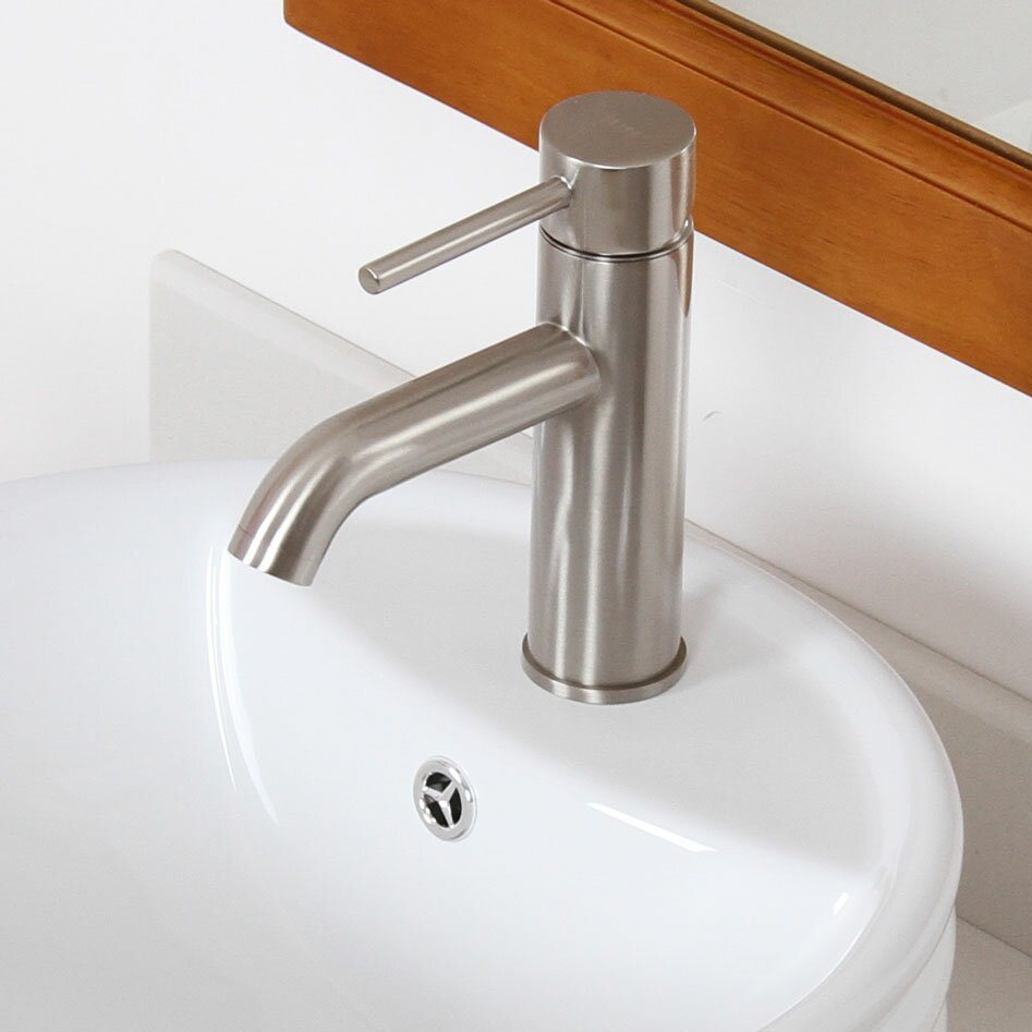 Bathroom Sink Spout : Elite Single Handle Bathroom Sink Faucet with Horizontal Dip Tip Spout ...