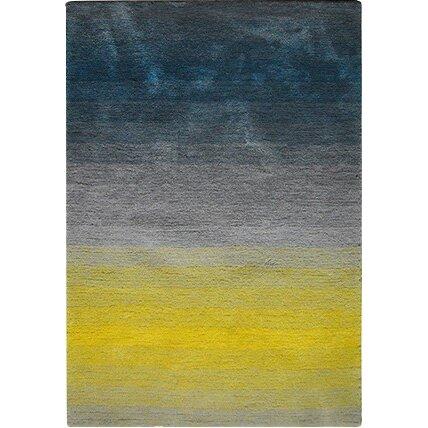 caracella teppich dinar in grau blau gelb. Black Bedroom Furniture Sets. Home Design Ideas