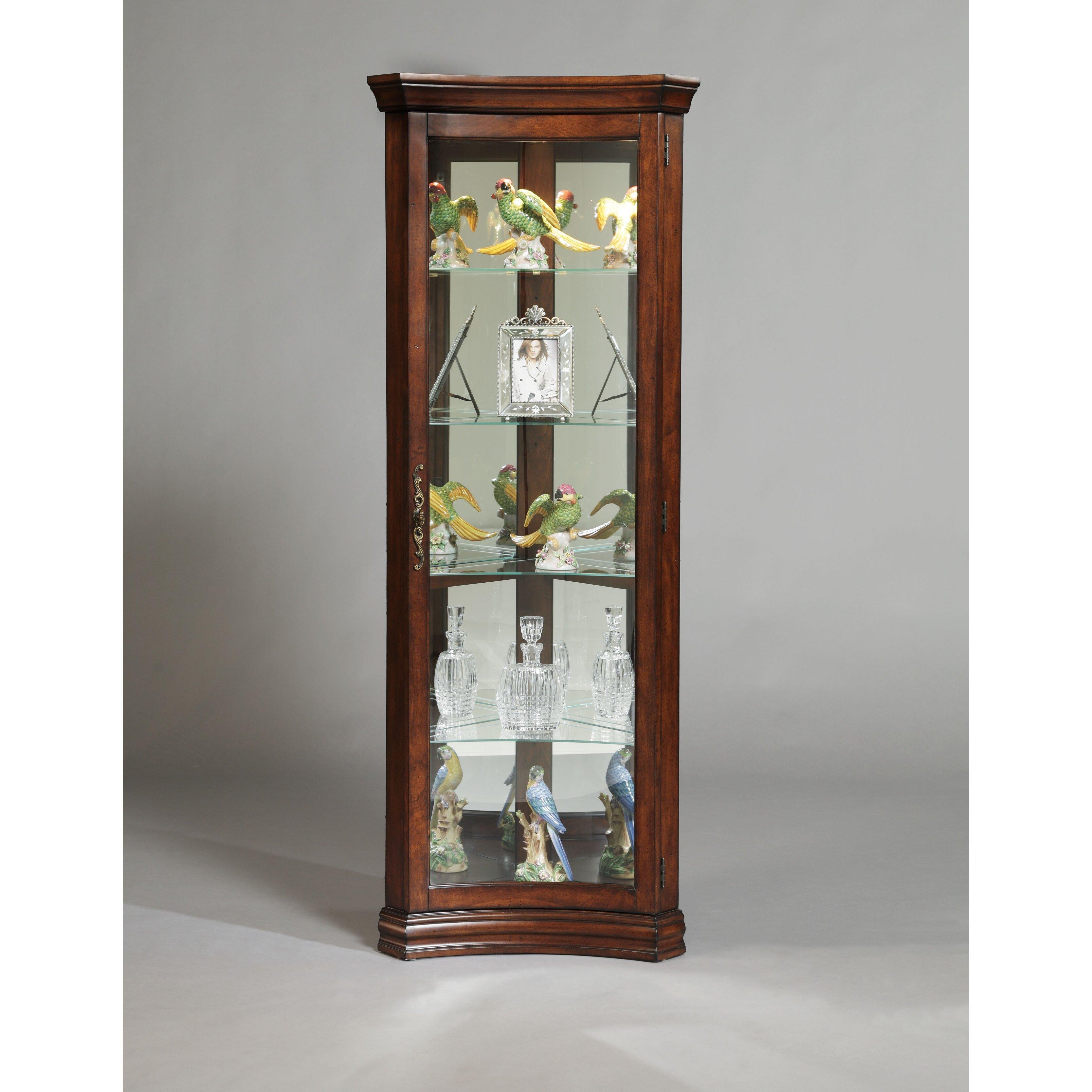 Pulaski Furniture Corner Curio Cabinet Cabinets