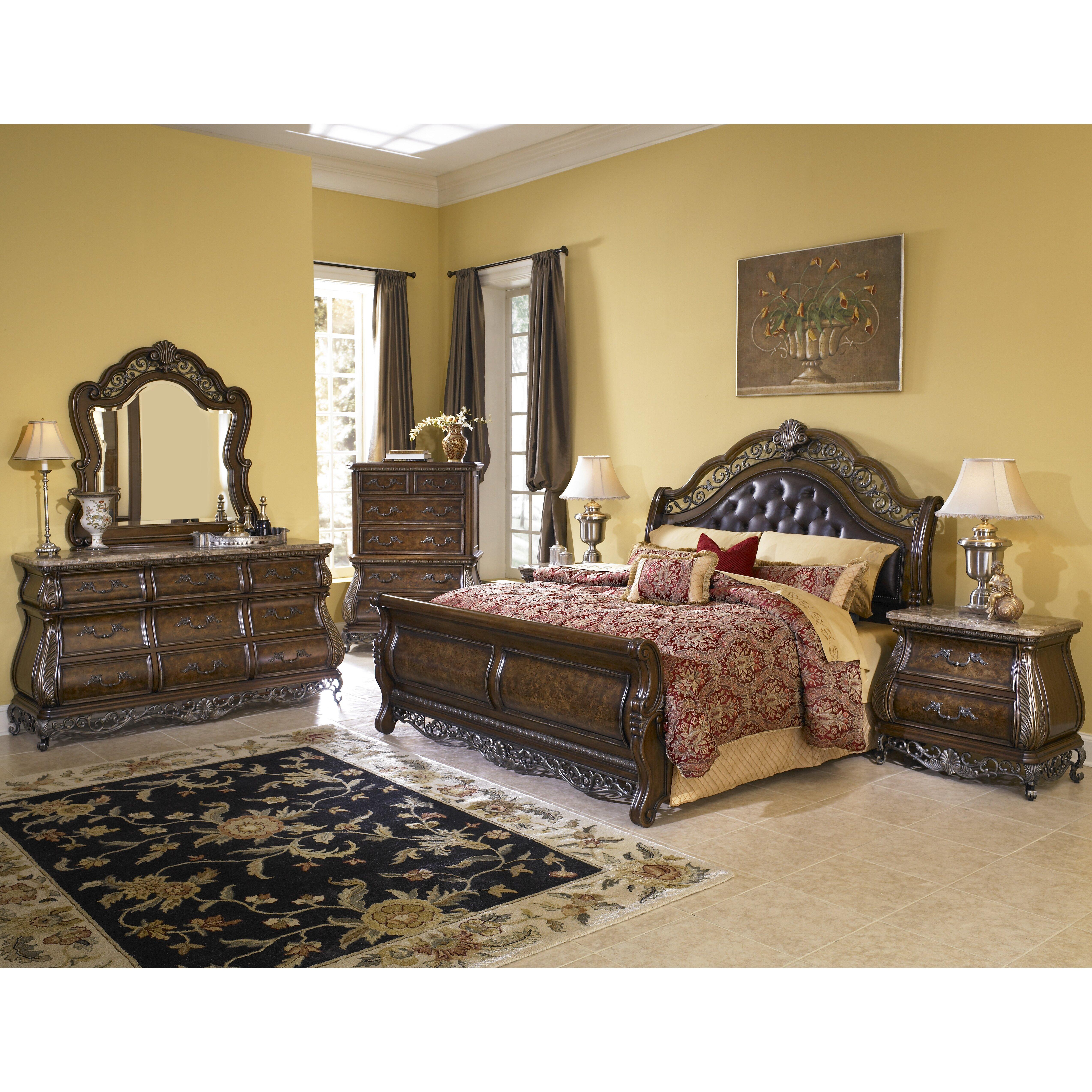 Pulaski Furniture Bedroom Sets Pulaski Birkhaven Sleigh Customizable Bedroom Set Reviews Wayfair