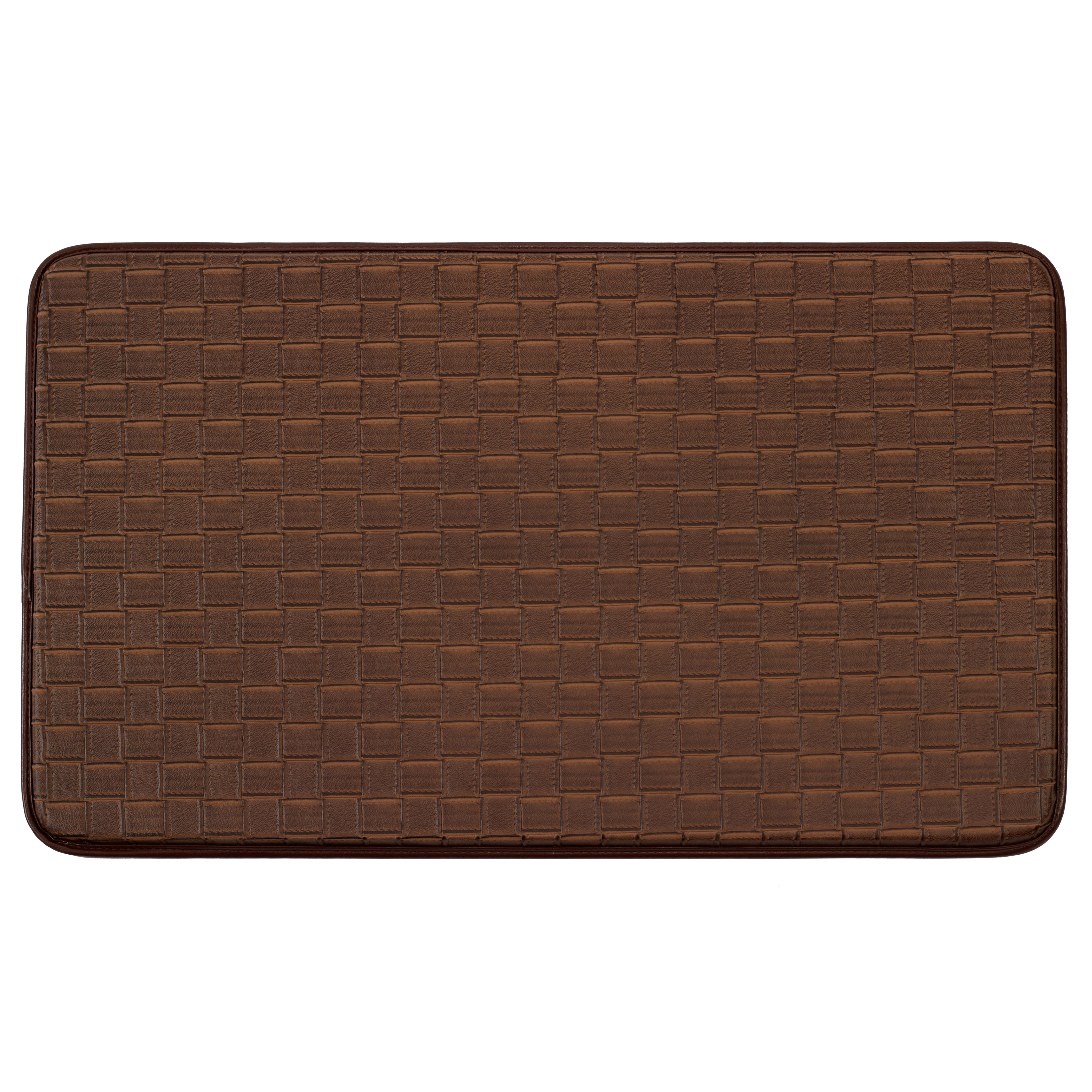 kitchen door mats c a~ cushioned kitchen floor mats Anti Fatigue Faux Leather Kitchen Mat