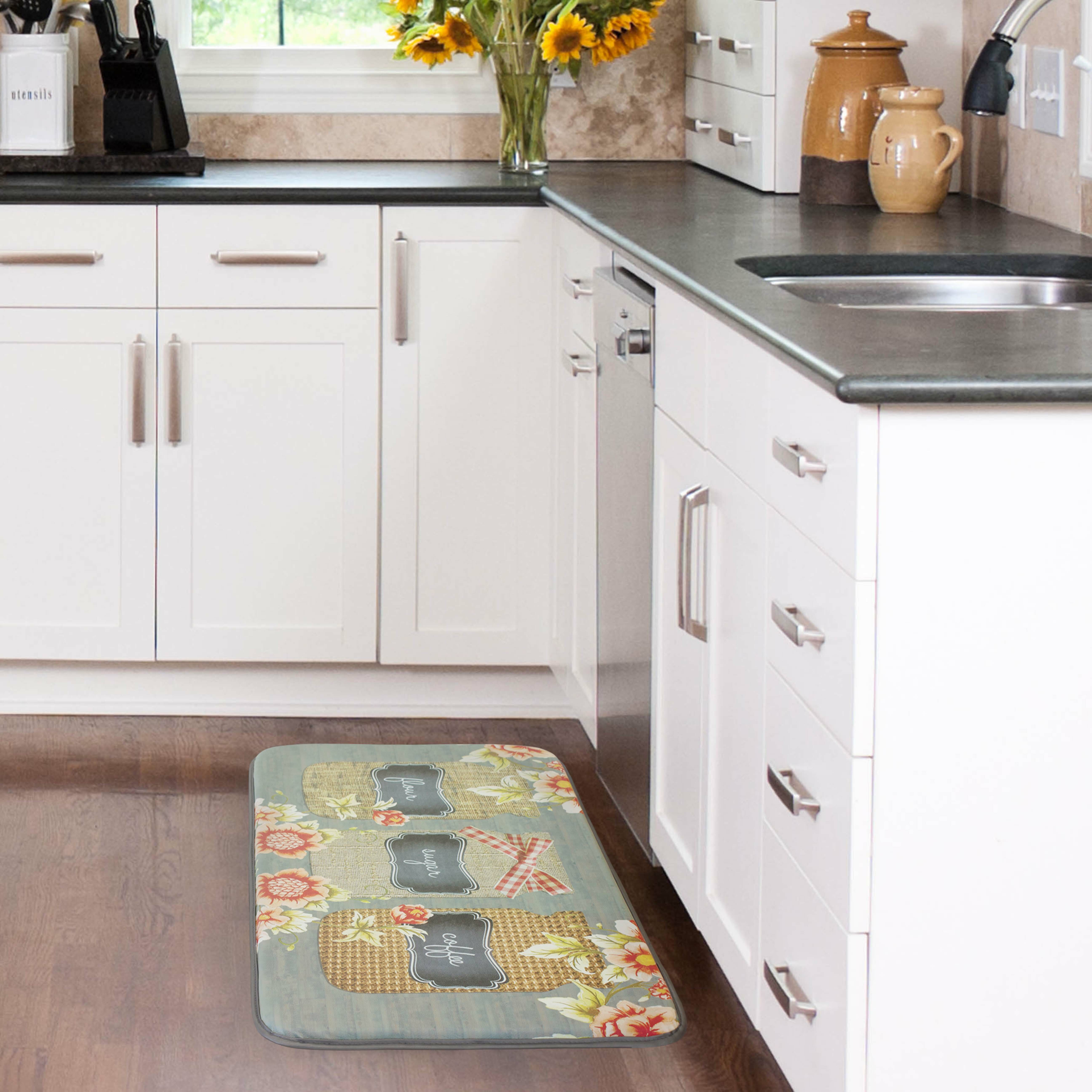 Crate And Barrel Kitchen Rugs Chef Gear Farmers Jar Anti Fatigue Kitchen Mat Reviews Wayfair