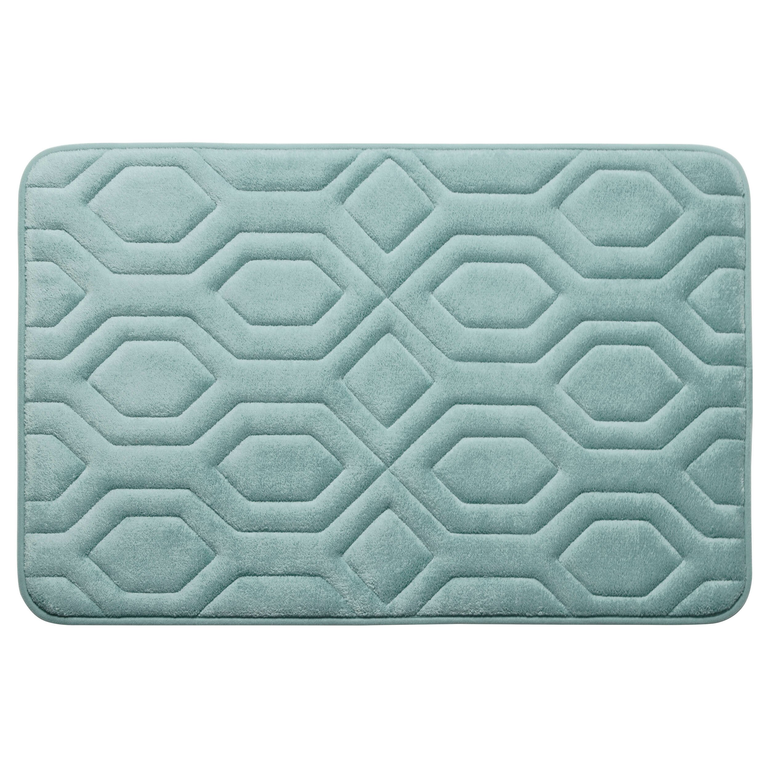 Bath Studio Turtle Shell Premium Micro Plush Memory Foam