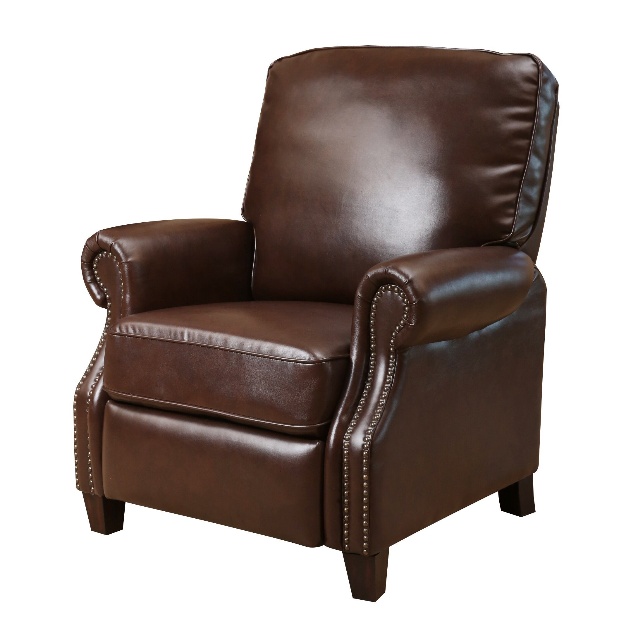 White Rocker Brown Leather Recliner Chair – Bedroom Recliner Chairs