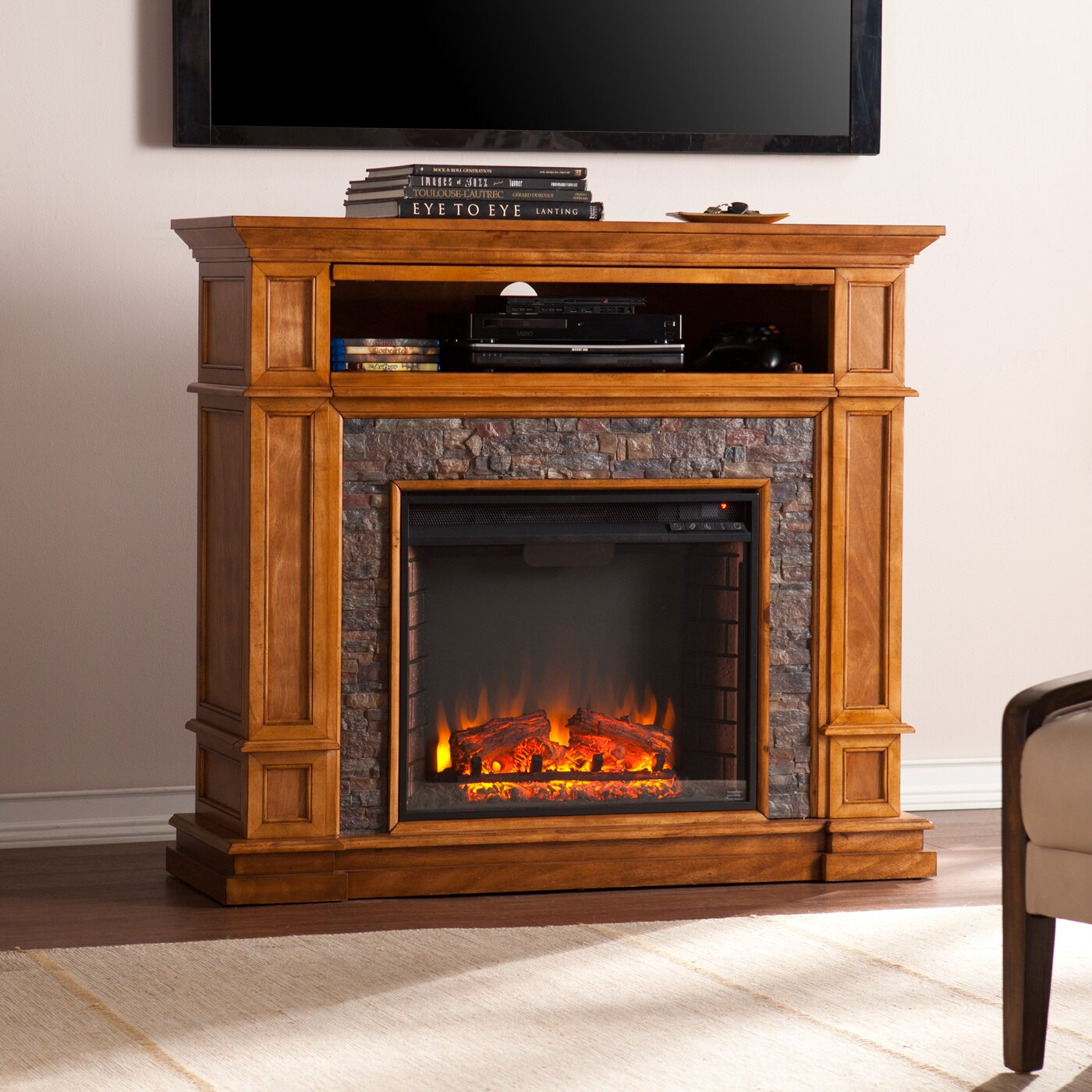 Media Center With Fireplace ~ dact.us