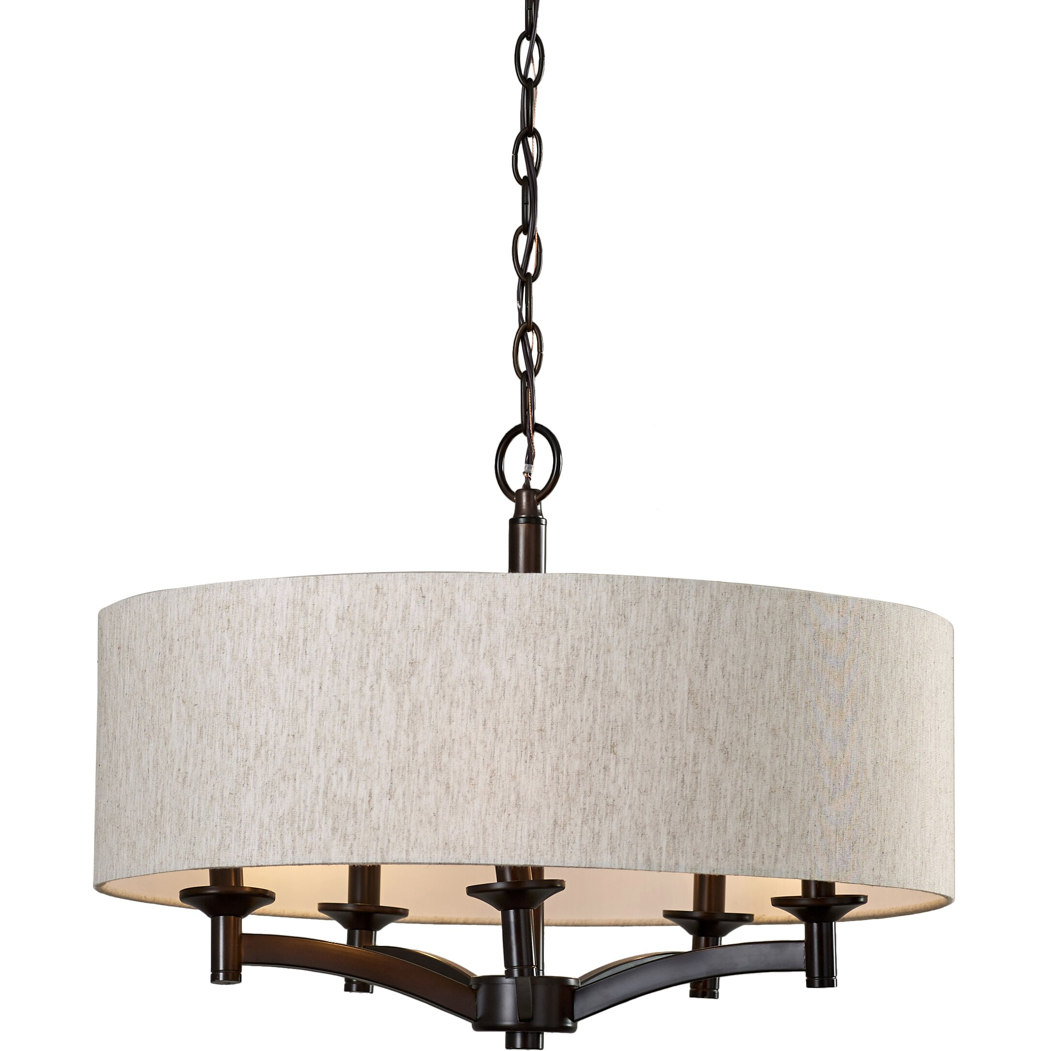 Three Posts Noah 5-Light Drum Chandelier & Reviews | Wayfair