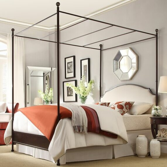 Three Posts Rockledge Upholstered Canopy Bed Reviews