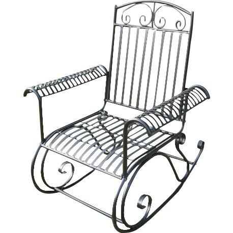 ... Posts Snowberry Iron Outdoor Porch Rocking Chair & Reviews  Wayfair