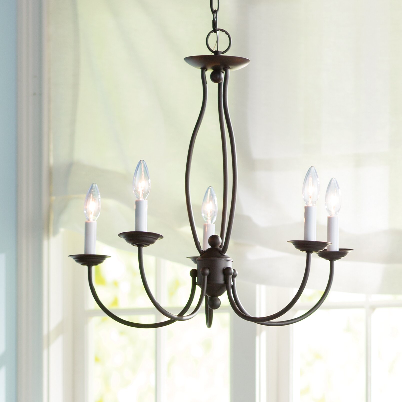 Three Posts Williams 5-Light Candle-Style Chandelier ...